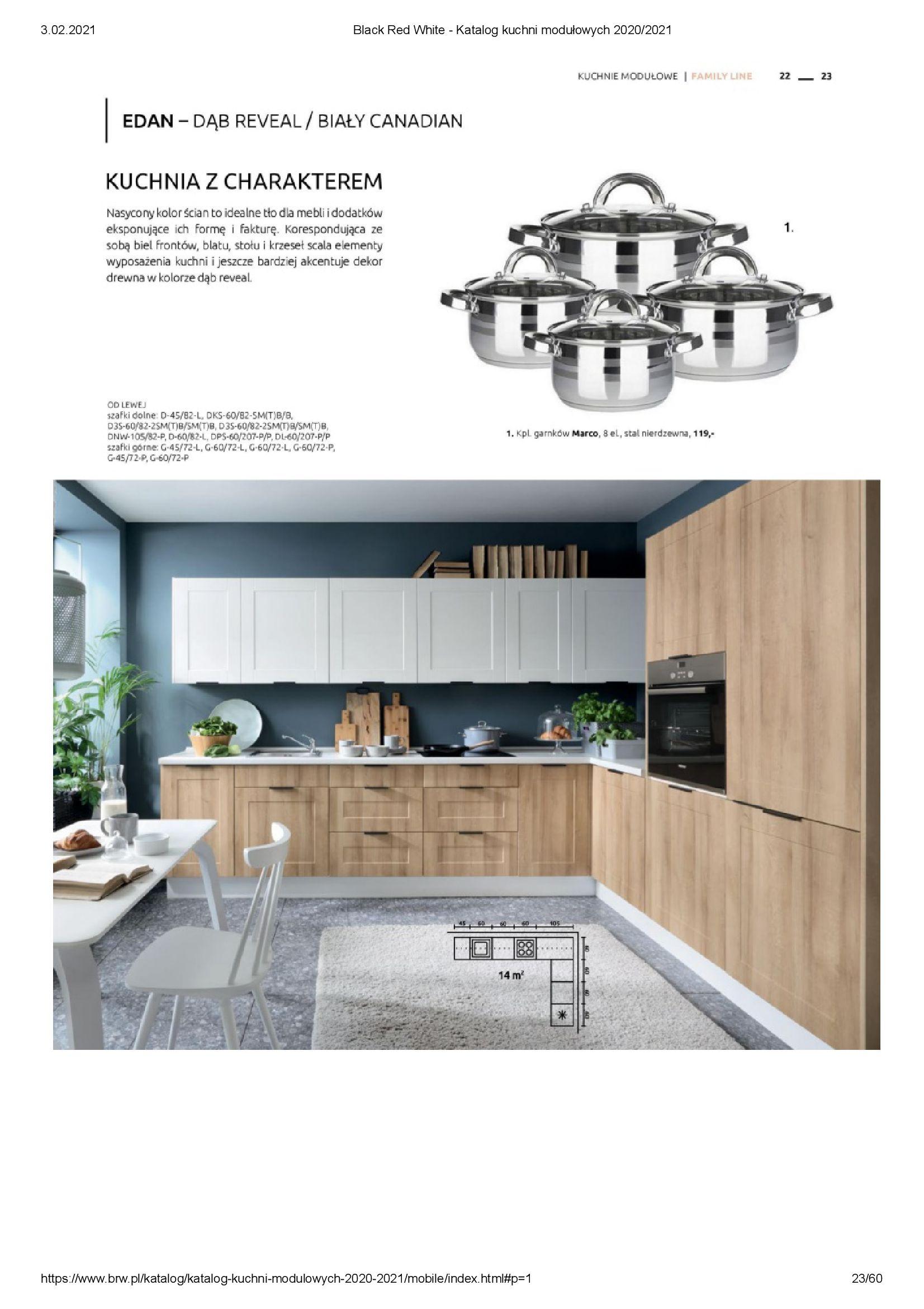 Gazetka Black Red White: Katalog - Kuchnie modułowe 2020/2021 2021-01-01 page-23