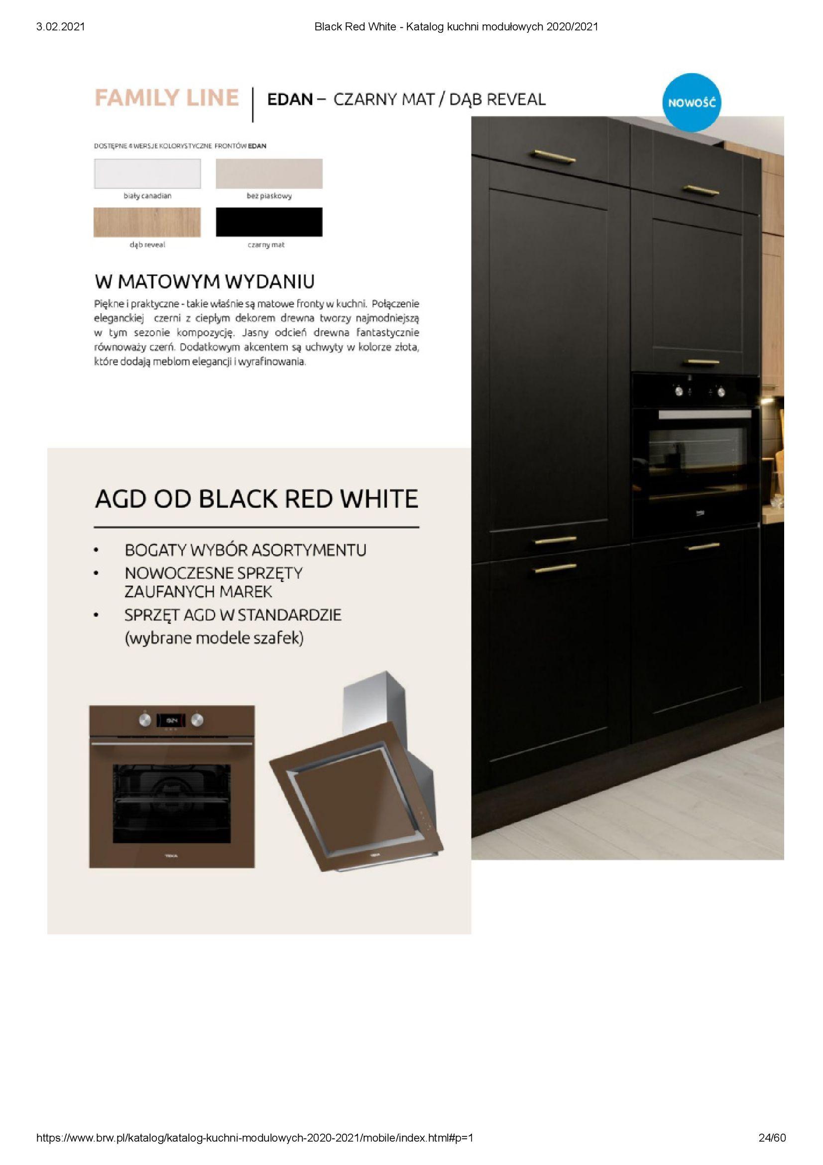 Gazetka Black Red White: Katalog - Kuchnie modułowe 2020/2021 2021-01-01 page-24
