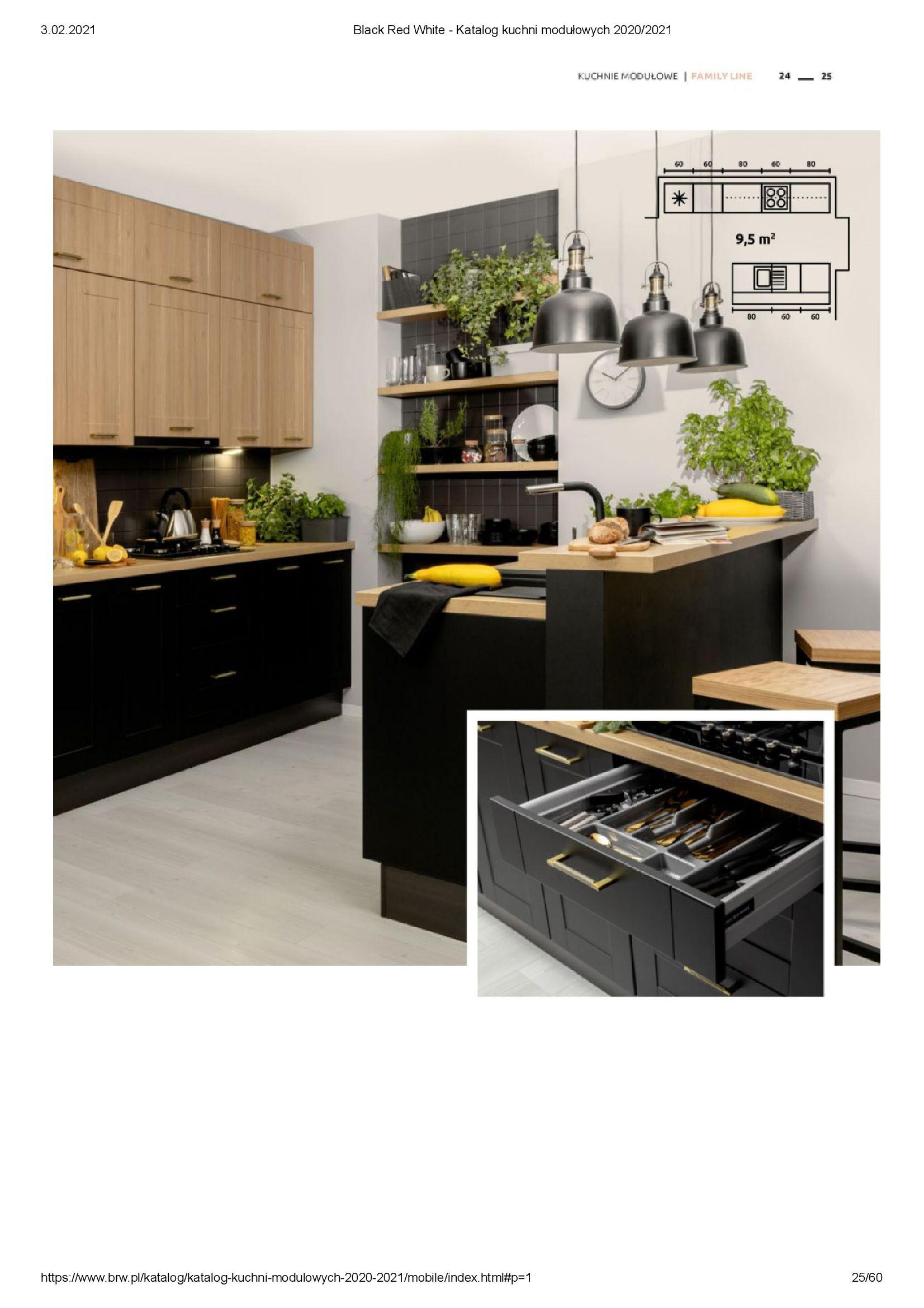 Gazetka Black Red White: Katalog - Kuchnie modułowe 2020/2021 2021-01-01 page-25