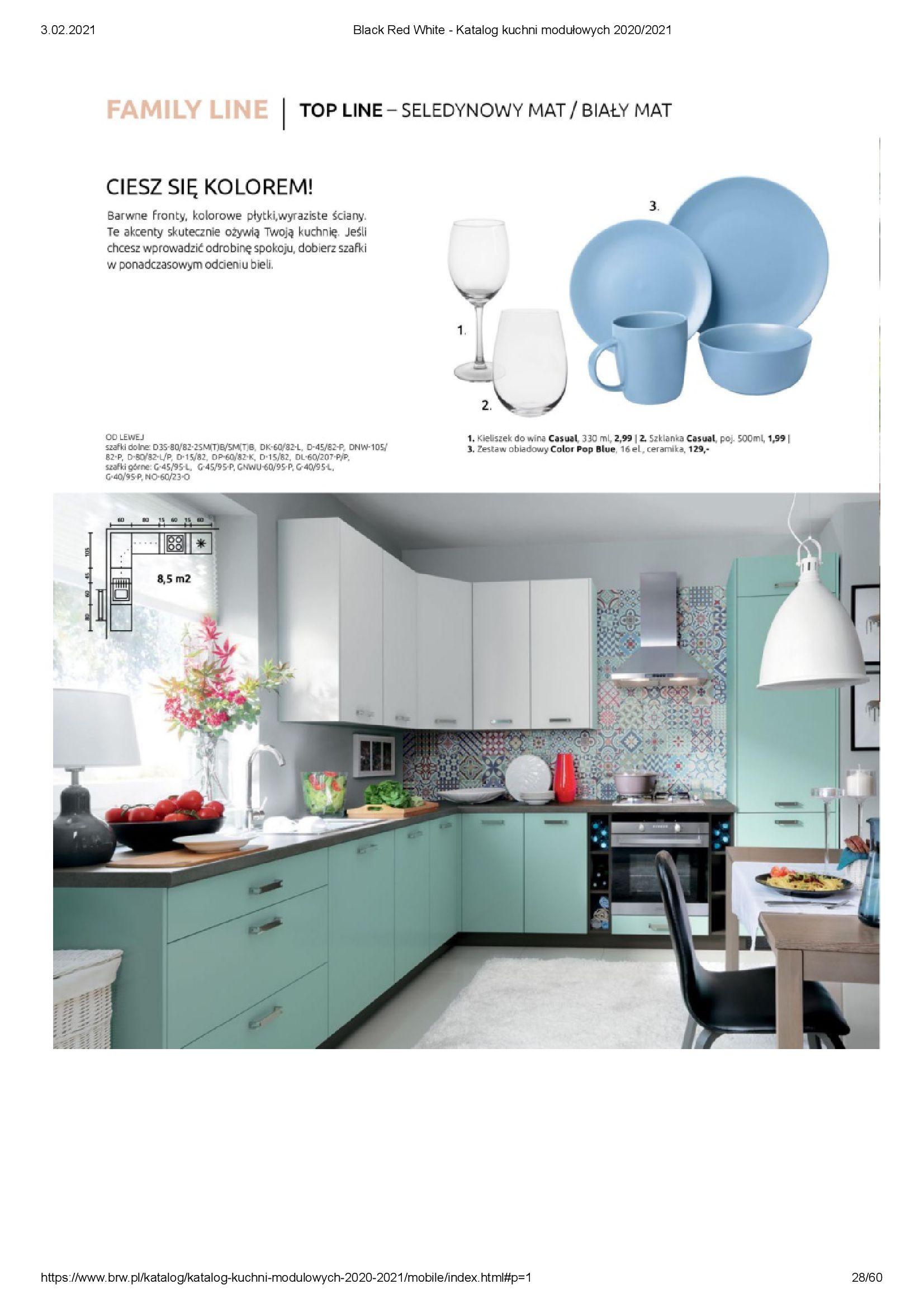 Gazetka Black Red White: Katalog - Kuchnie modułowe 2020/2021 2021-01-01 page-28