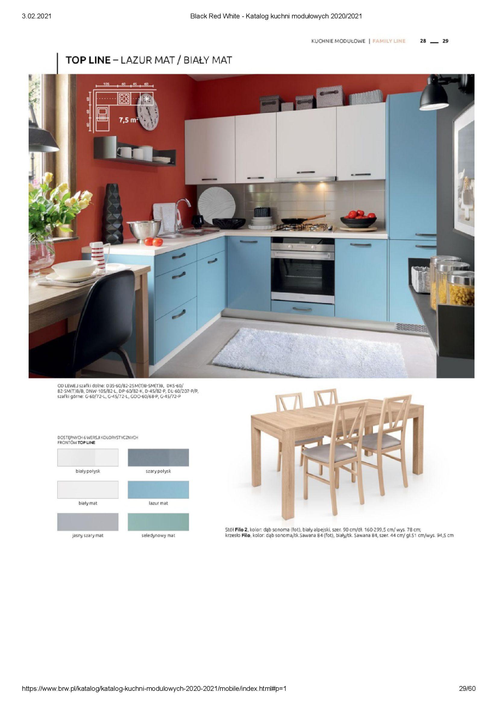 Gazetka Black Red White: Katalog - Kuchnie modułowe 2020/2021 2021-01-01 page-29