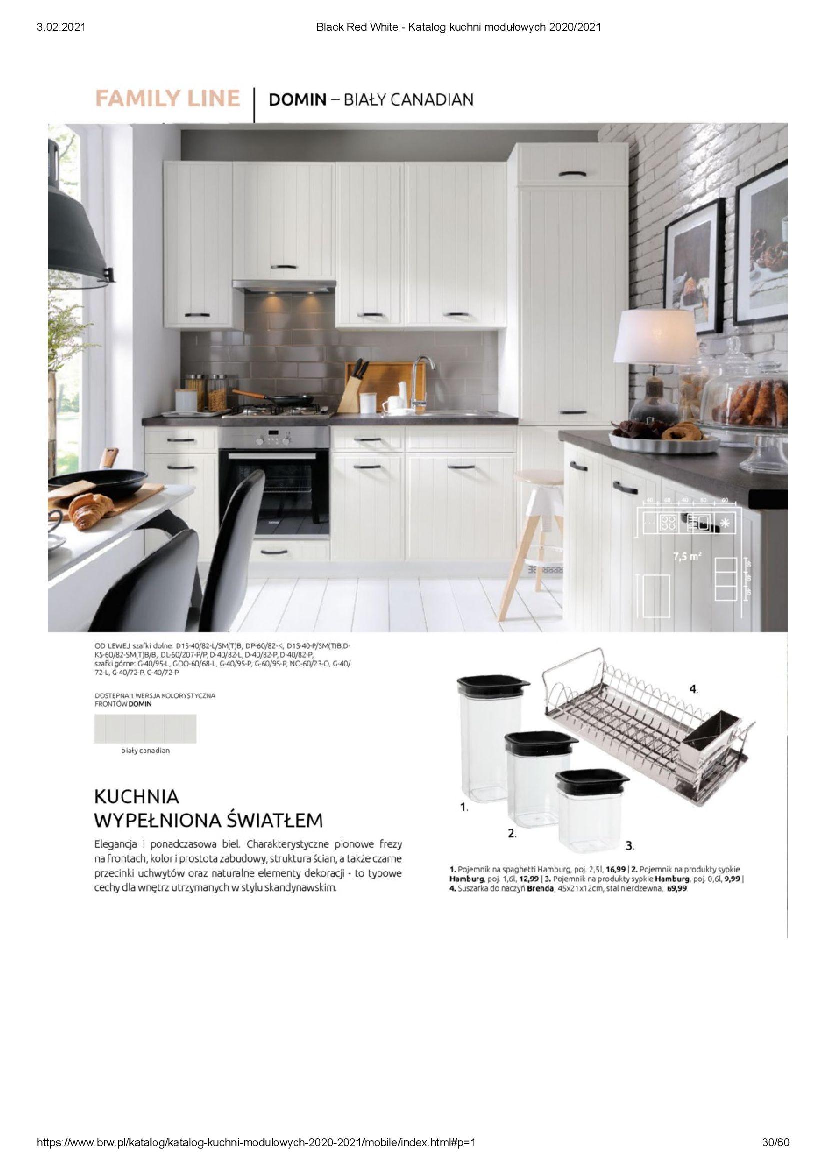 Gazetka Black Red White: Katalog - Kuchnie modułowe 2020/2021 2021-01-01 page-30