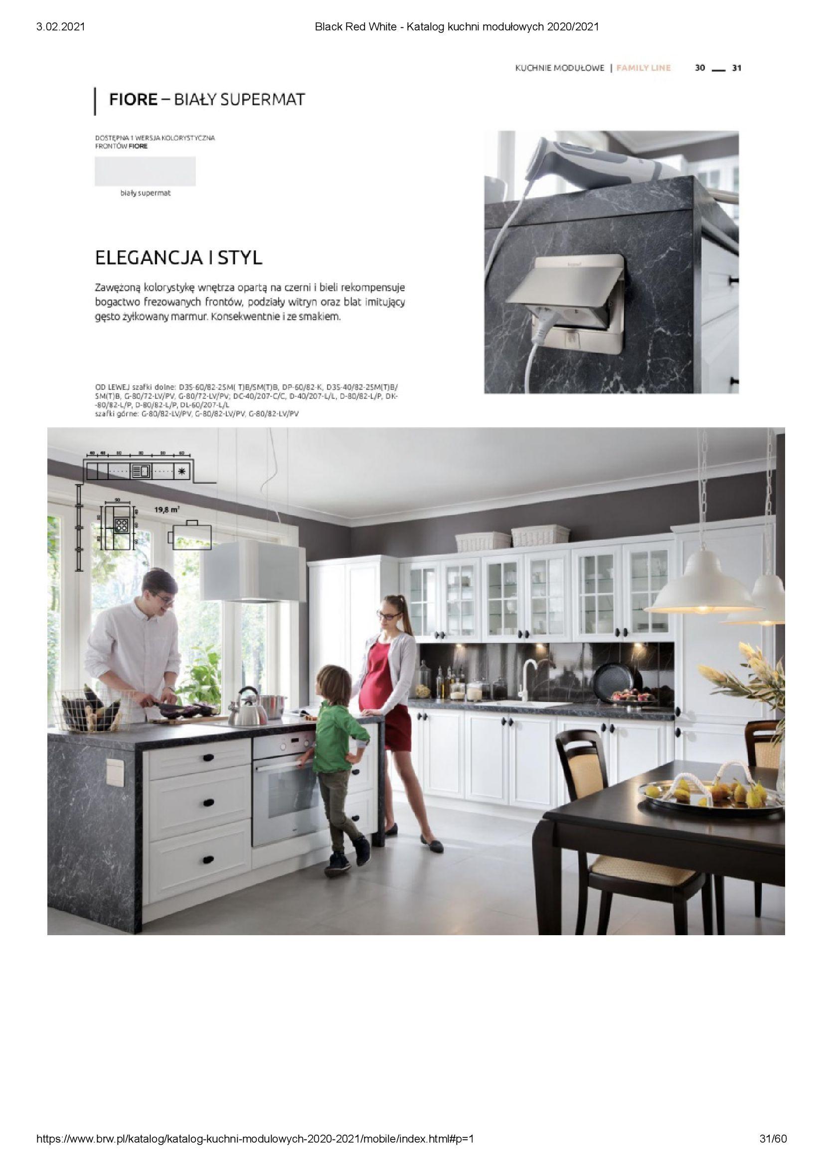 Gazetka Black Red White: Katalog - Kuchnie modułowe 2020/2021 2021-01-01 page-31