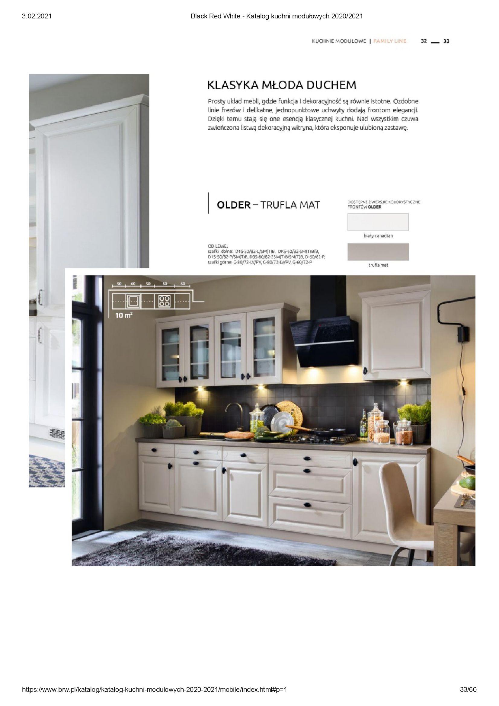 Gazetka Black Red White: Katalog - Kuchnie modułowe 2020/2021 2021-01-01 page-33