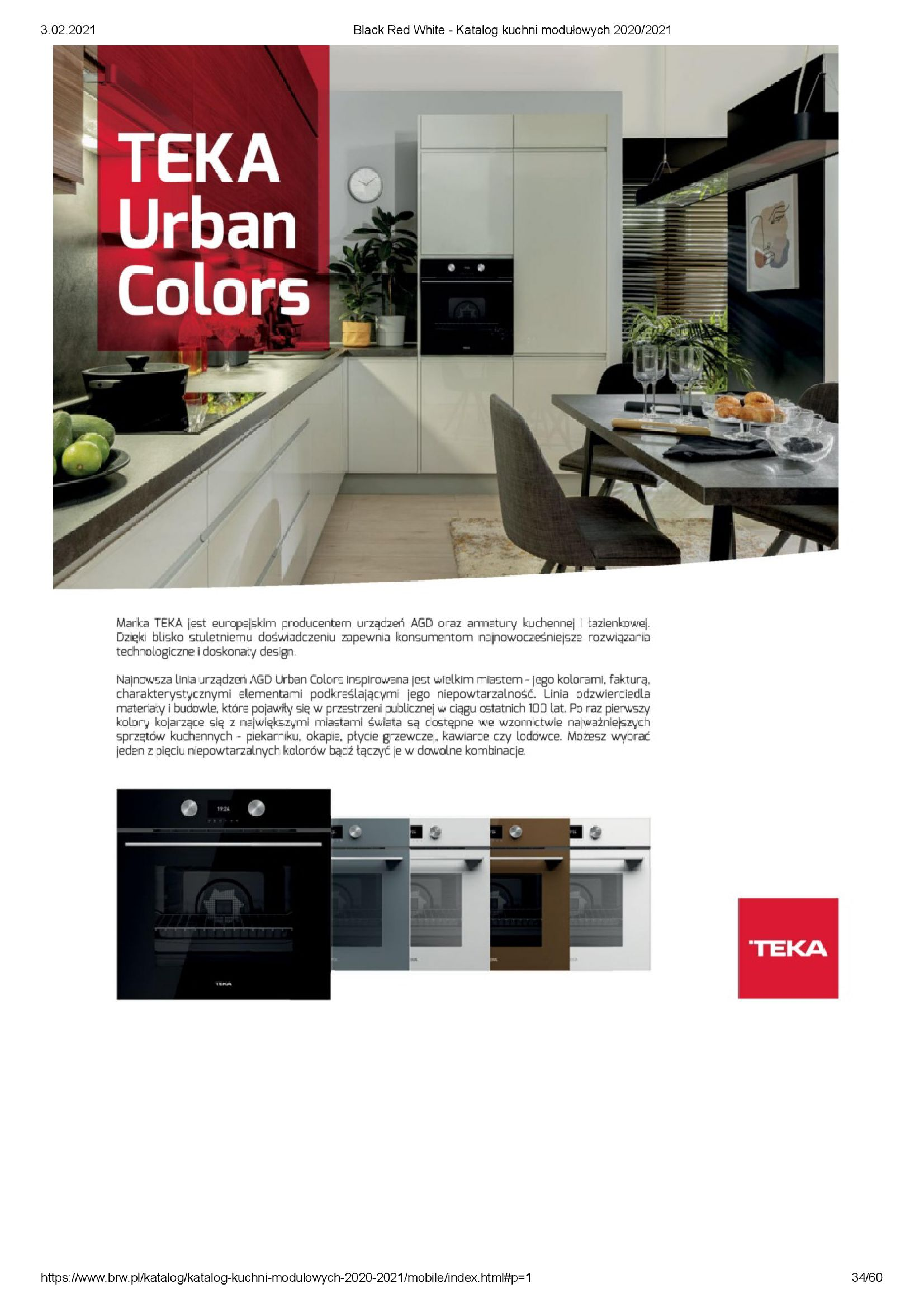 Gazetka Black Red White: Katalog - Kuchnie modułowe 2020/2021 2021-01-01 page-34