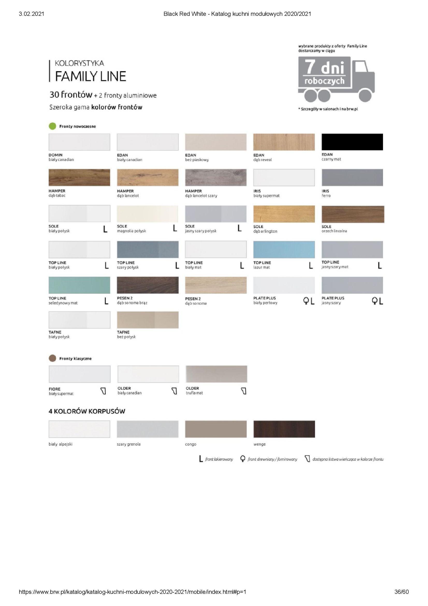 Gazetka Black Red White: Katalog - Kuchnie modułowe 2020/2021 2021-01-01 page-36