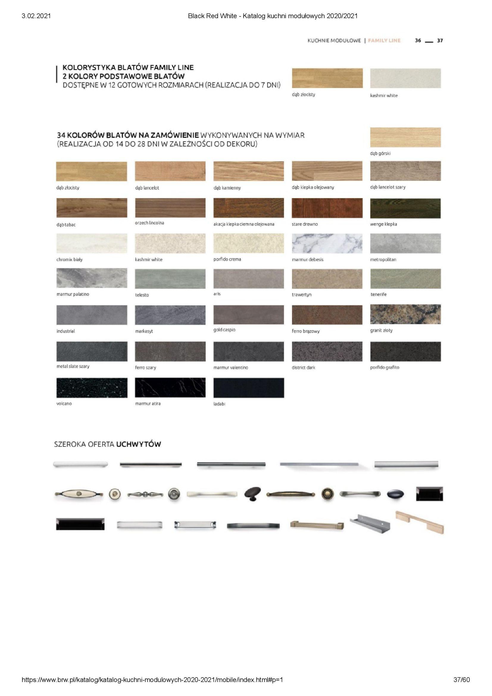 Gazetka Black Red White: Katalog - Kuchnie modułowe 2020/2021 2021-01-01 page-37