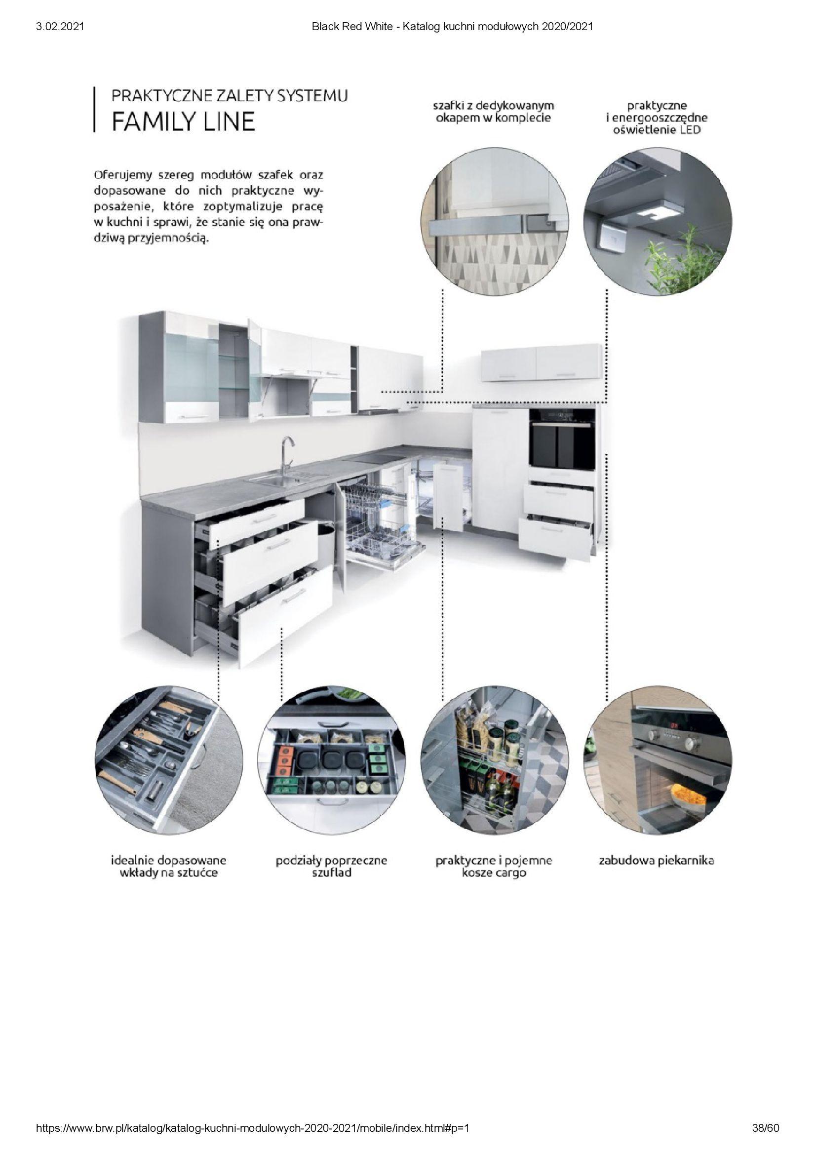 Gazetka Black Red White: Katalog - Kuchnie modułowe 2020/2021 2021-01-01 page-38