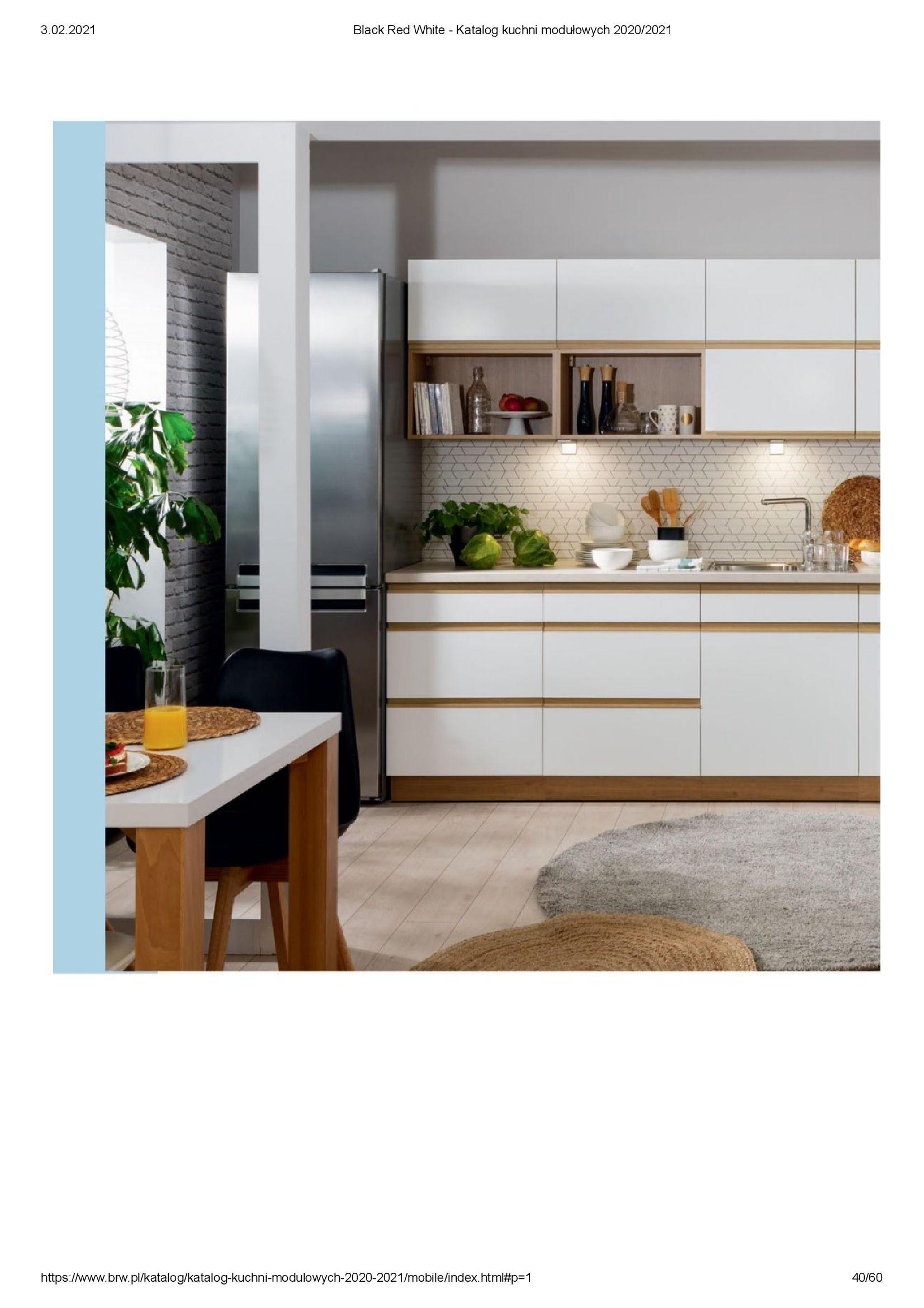 Gazetka Black Red White: Katalog - Kuchnie modułowe 2020/2021 2021-01-01 page-40
