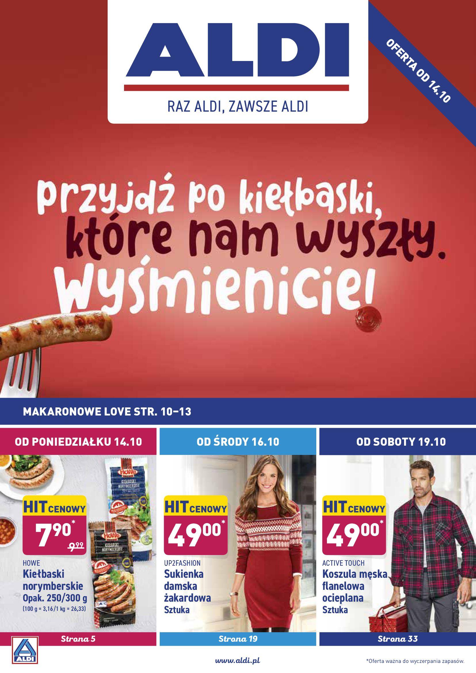 Gazetka Aldi - Okazje tygodnia od 14.10-13.10.2019-20.10.2019-page-1