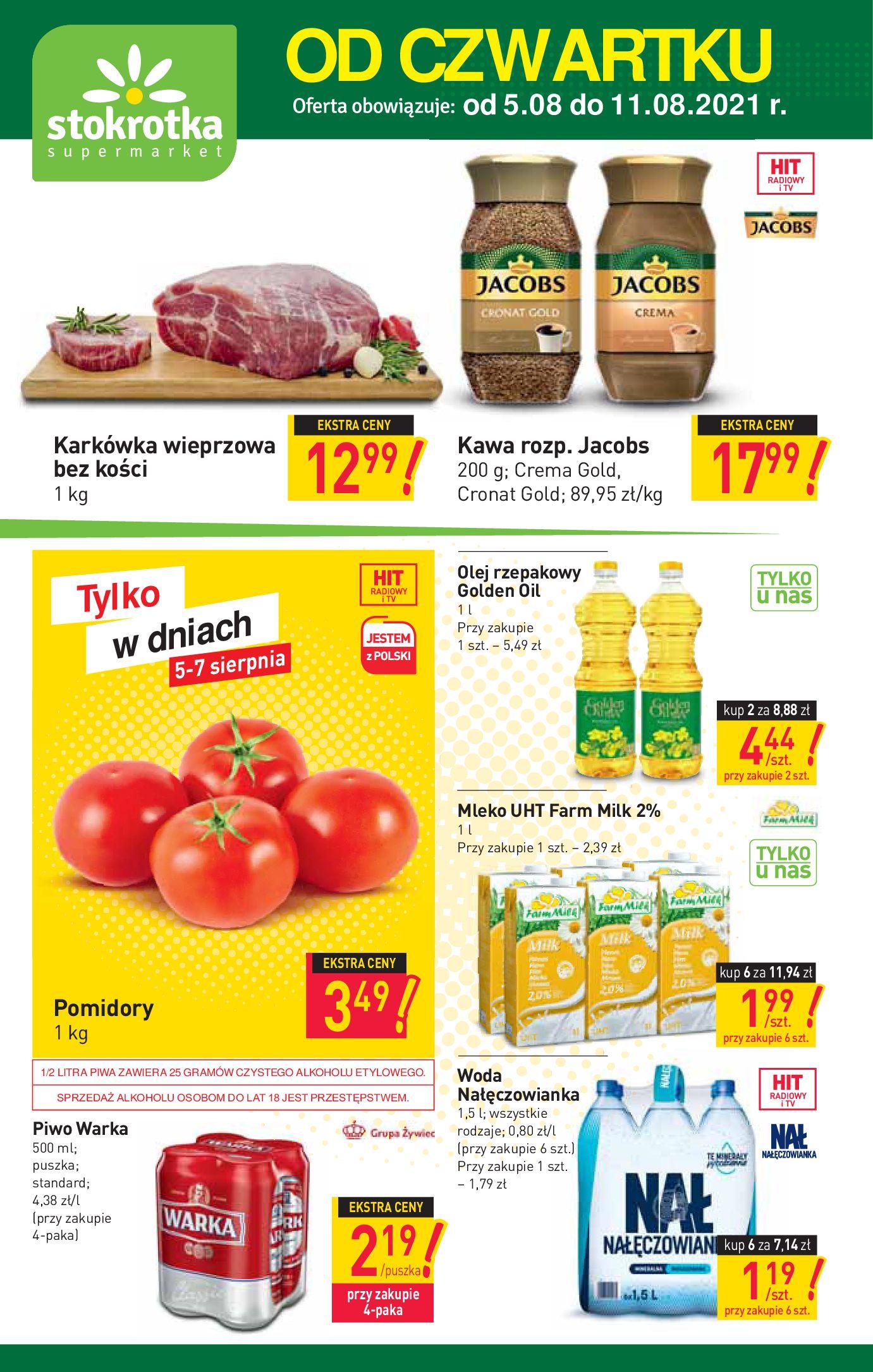 Stokrotka Supermarket:  Gazetka Stokrotka Supermarket od 05.08 04.08.2021