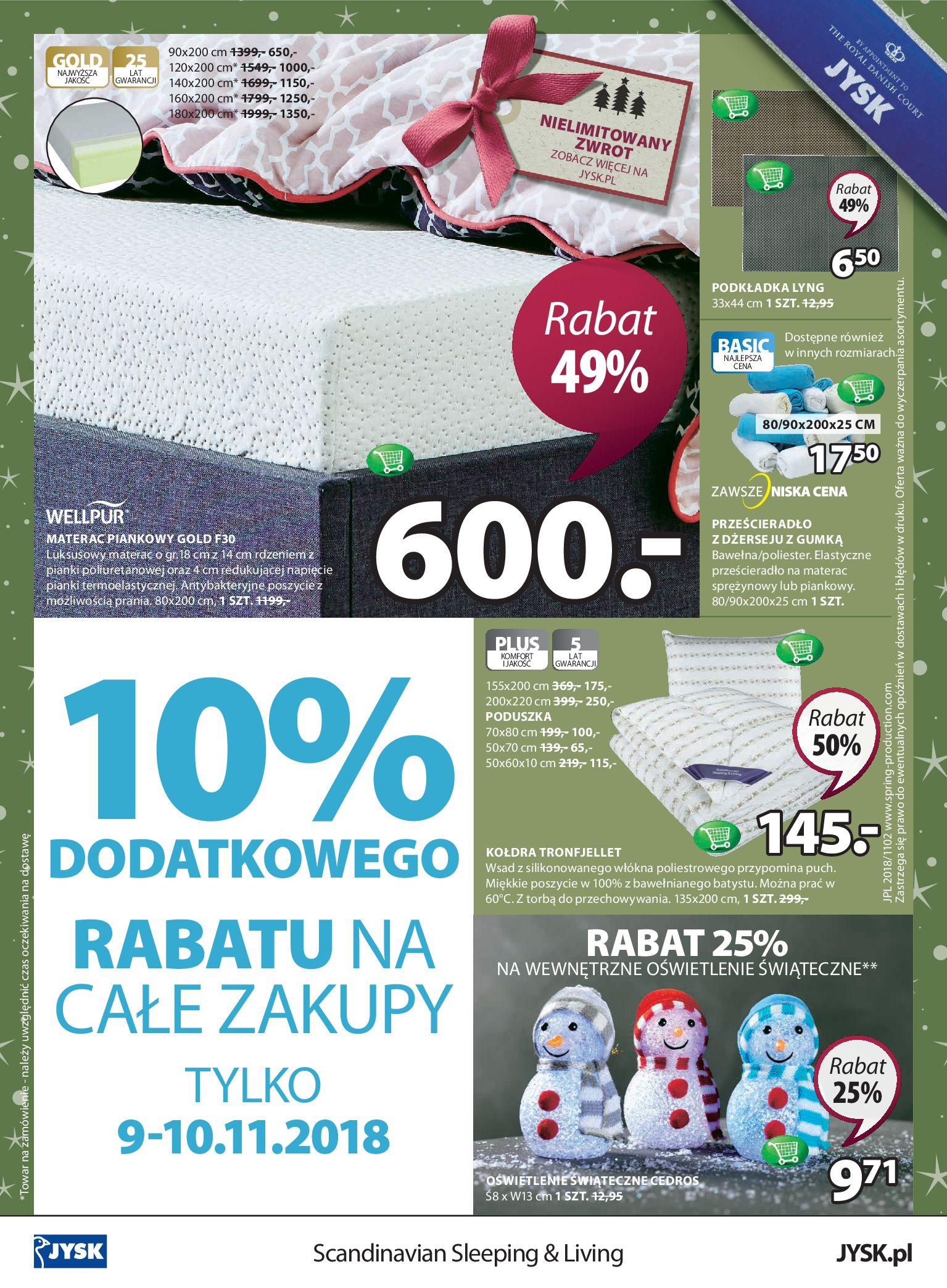 Gazetka Jysk - Świetne oferty świąteczne-06.11.2018-18.11.2018-page-