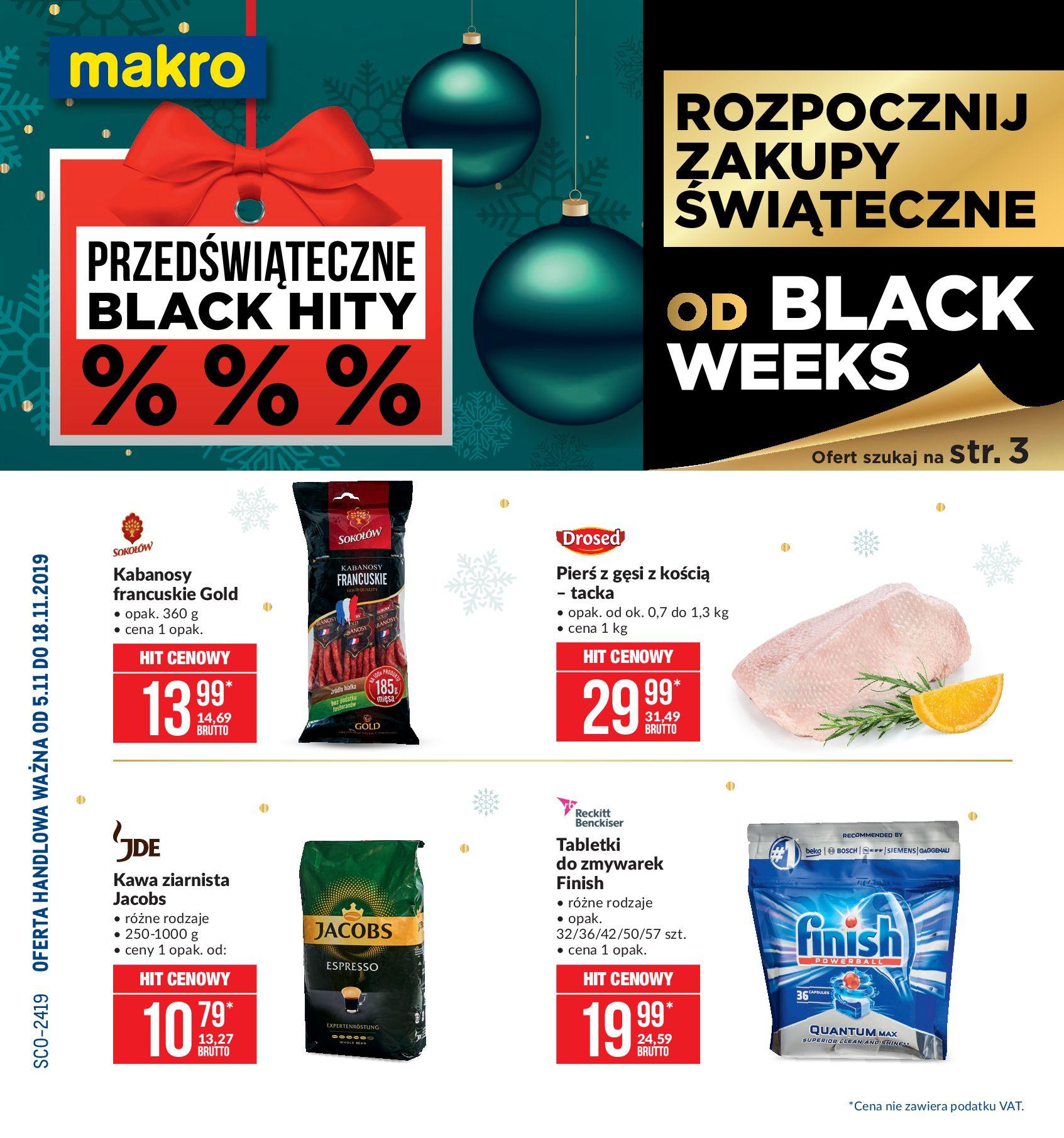 Gazetka Makro - Artykuły spożywcze-04.11.2019-18.11.2019-page-1