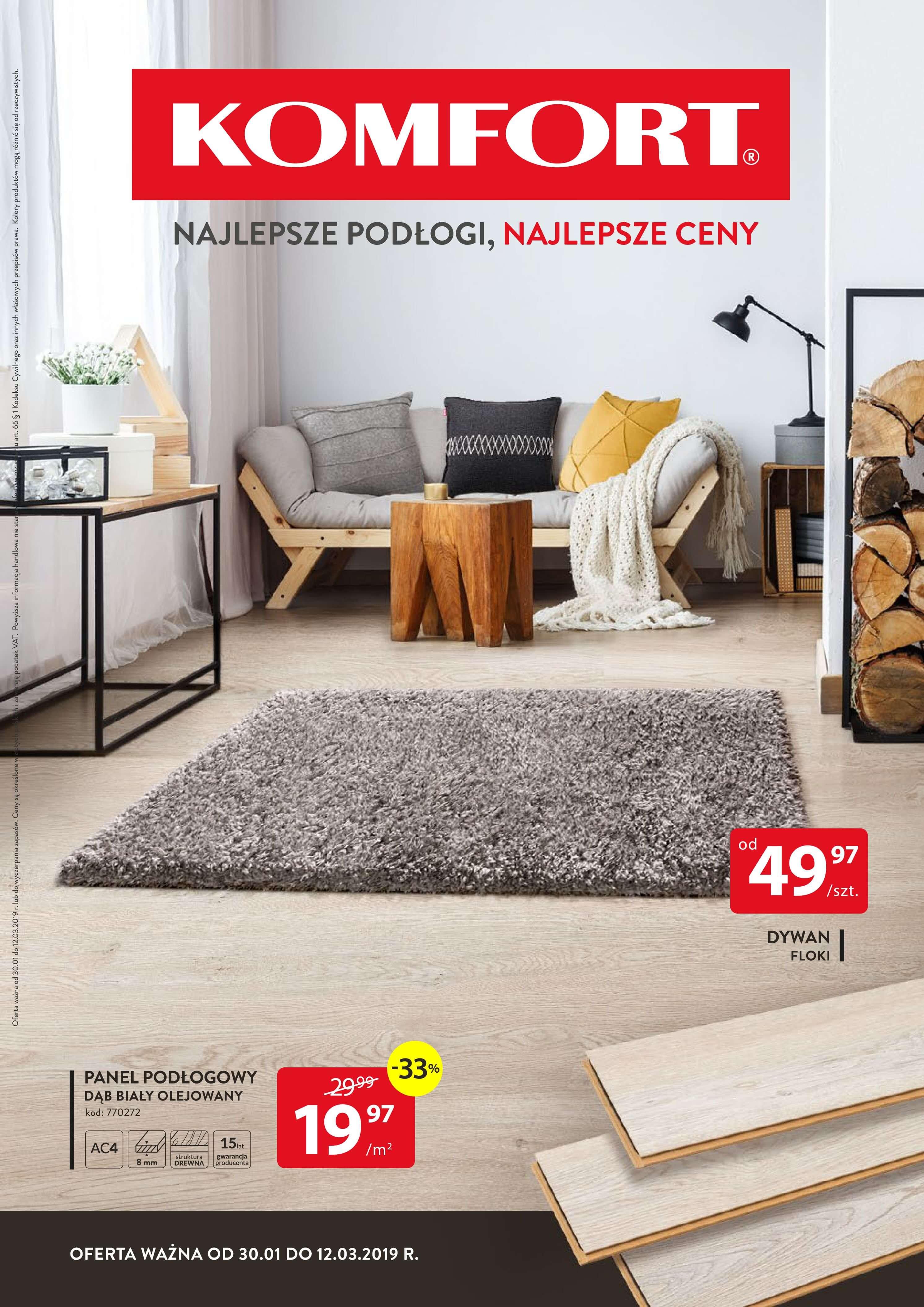 Gazetka Komfort - Najlepsze podłogi, najlepsze ceny-29.01.2019-12.03.2019-page-