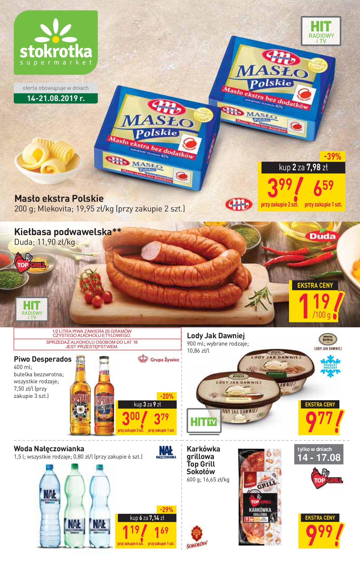 Gazetka Stokrotka Supermarket - Gazetka supermarket-13.08.2019-21.08.2019-page-1
