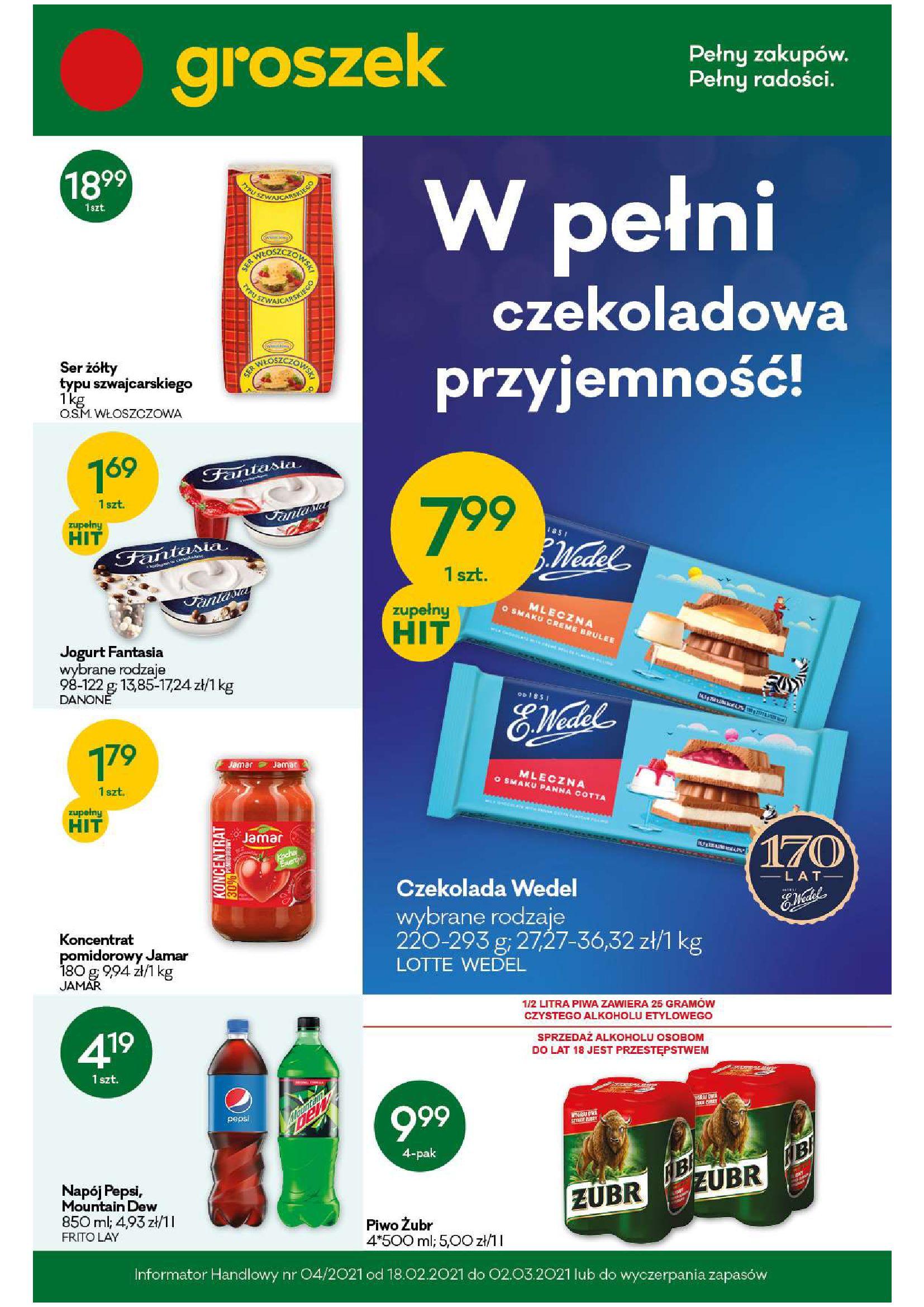 Gazetka Groszek: Gazetka promocyjna 2021-02-18 page-1