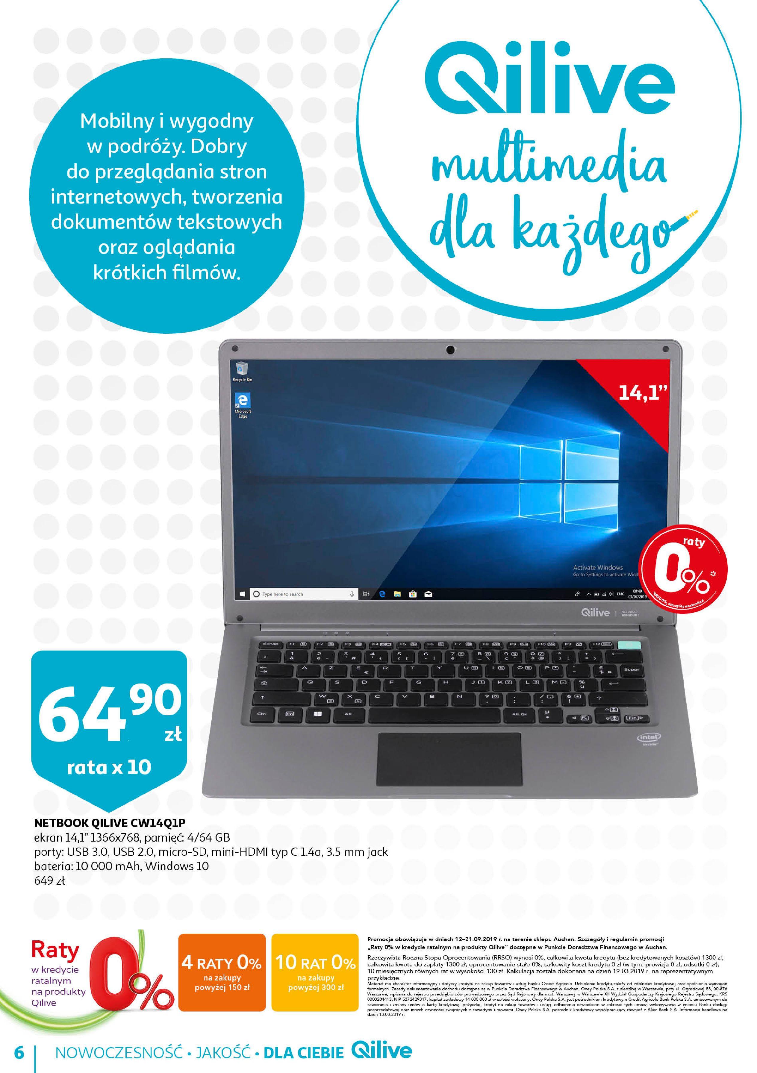 Gazetka Auchan - QILIVE byAuchan days  Hipermarkety-11.09.2019-21.09.2019-page-6