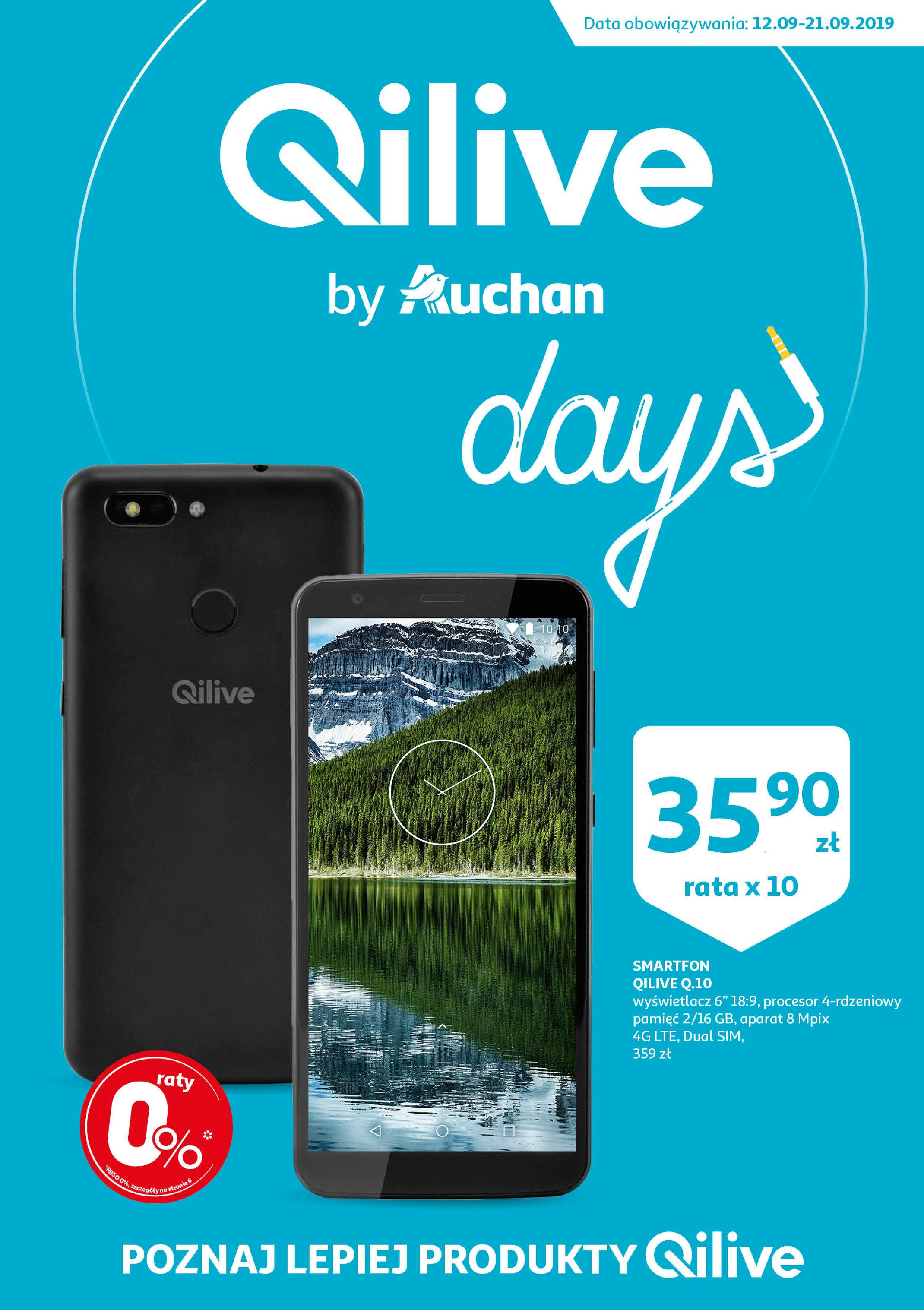 Gazetka Auchan - QILIVE byAuchan days  Hipermarkety-11.09.2019-21.09.2019-page-1