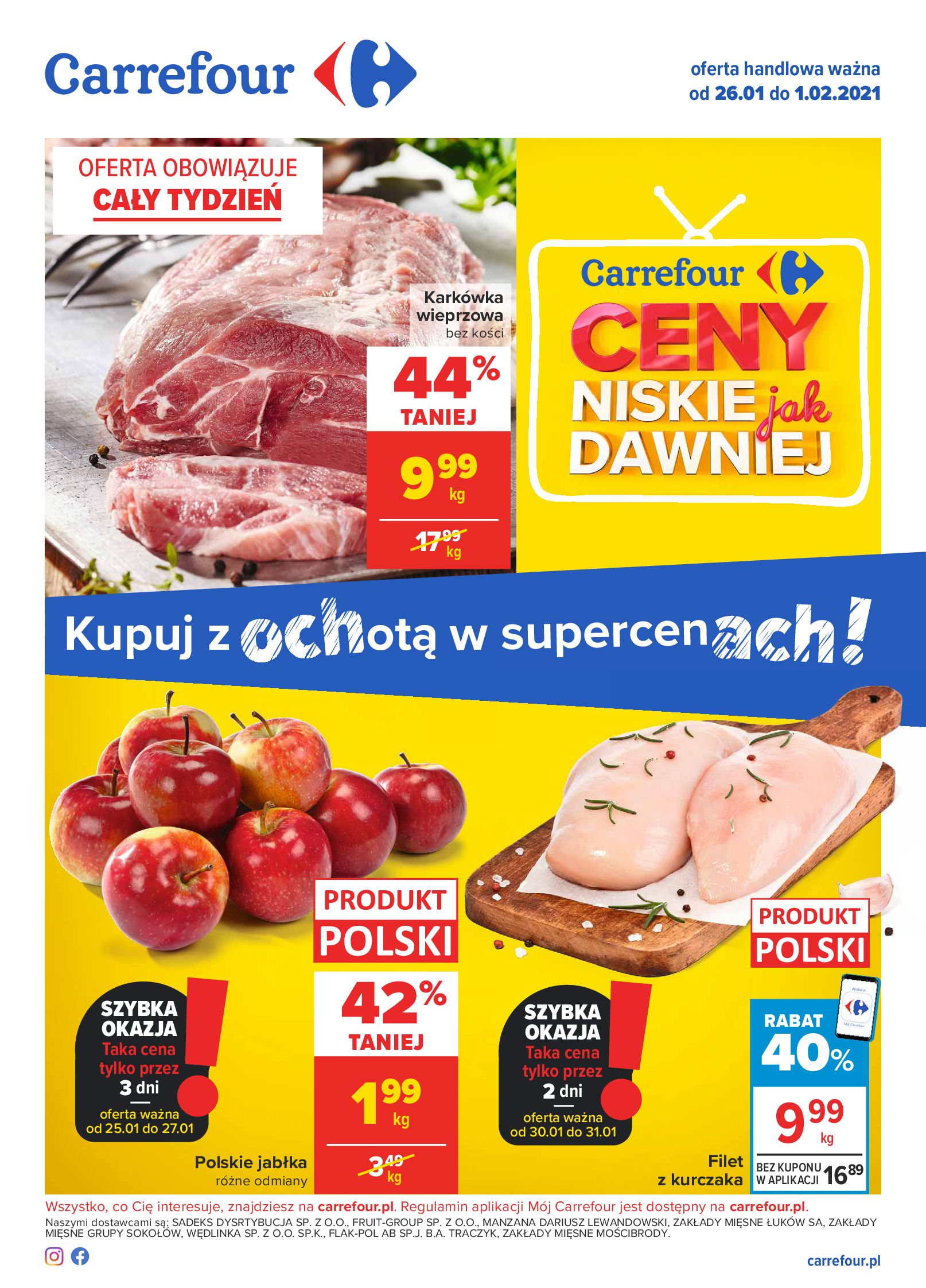 Carrefour:  Gazetka Carrefour od 26.01 25.01.2021
