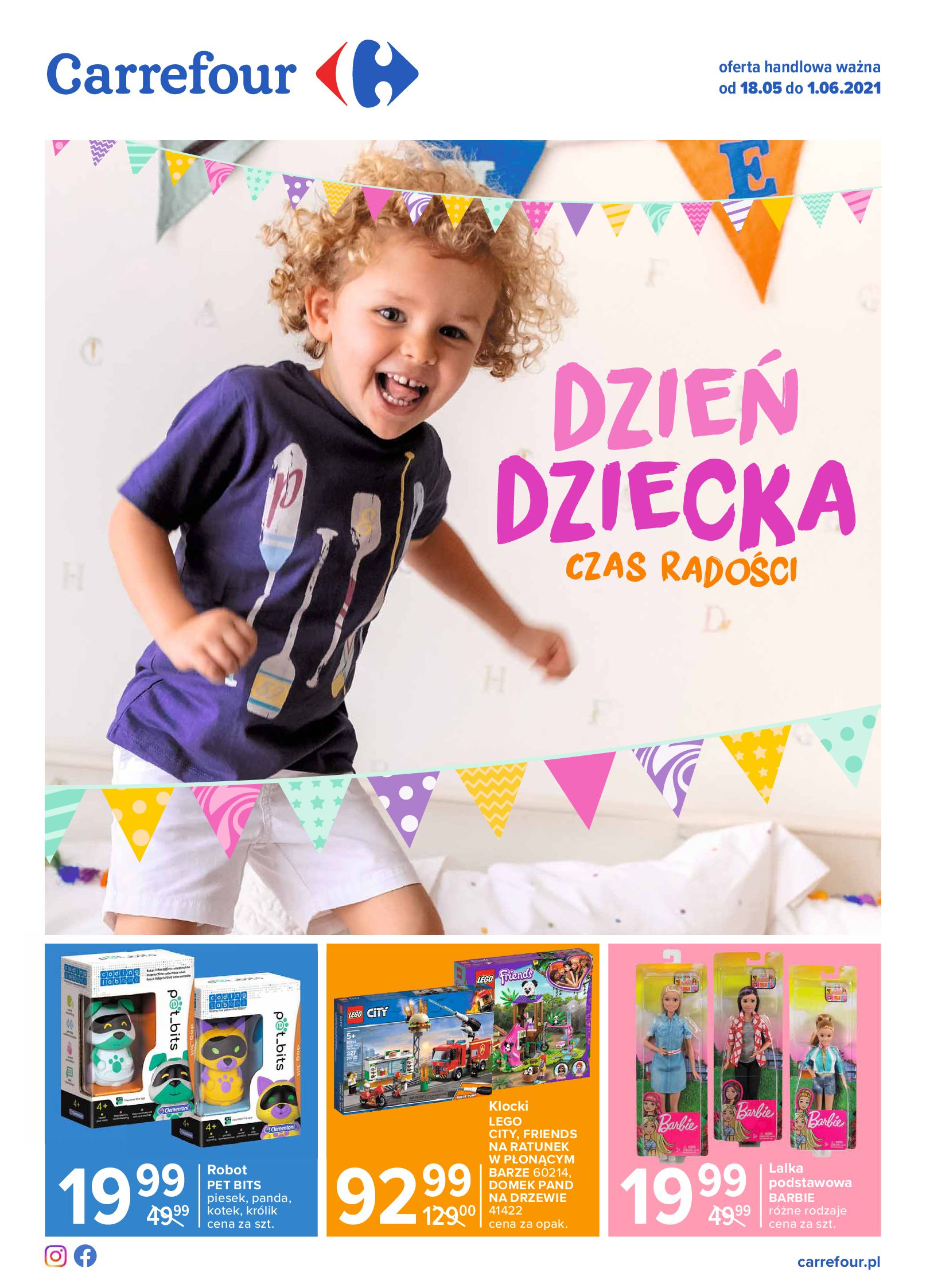 Carrefour:  Gazetka Carrefour Dzień Dziecka 17.05.2021