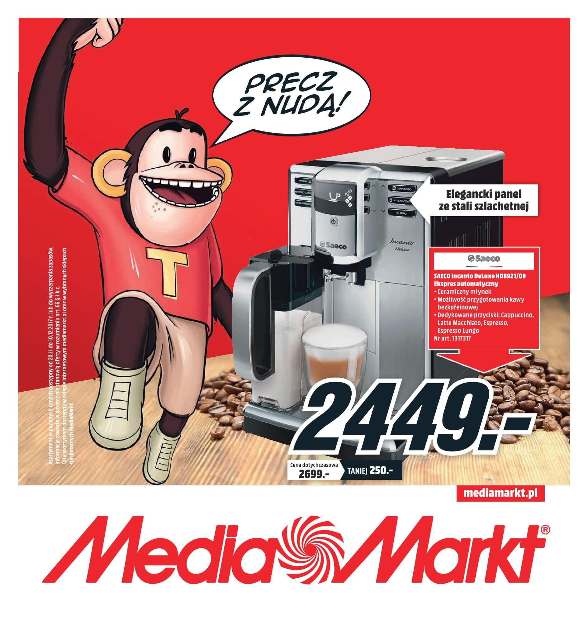 Gazetka Media Markt - Oferta na ekspresy do kawy, blendery, odkurzacze-2017-11-19-2017-12-10-page-1