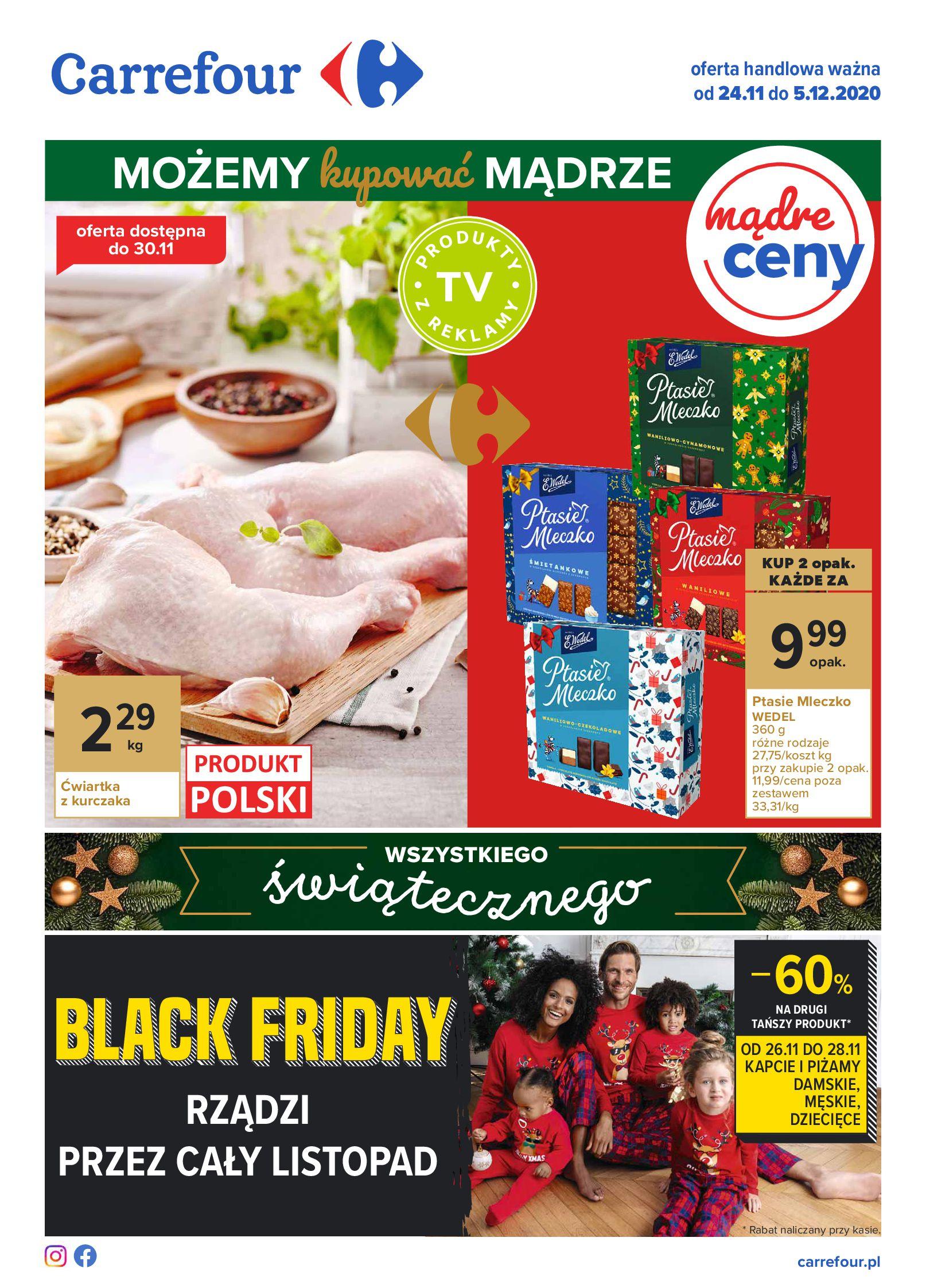 Carrefour:  Oferta handlowa od 24.11 23.11.2020