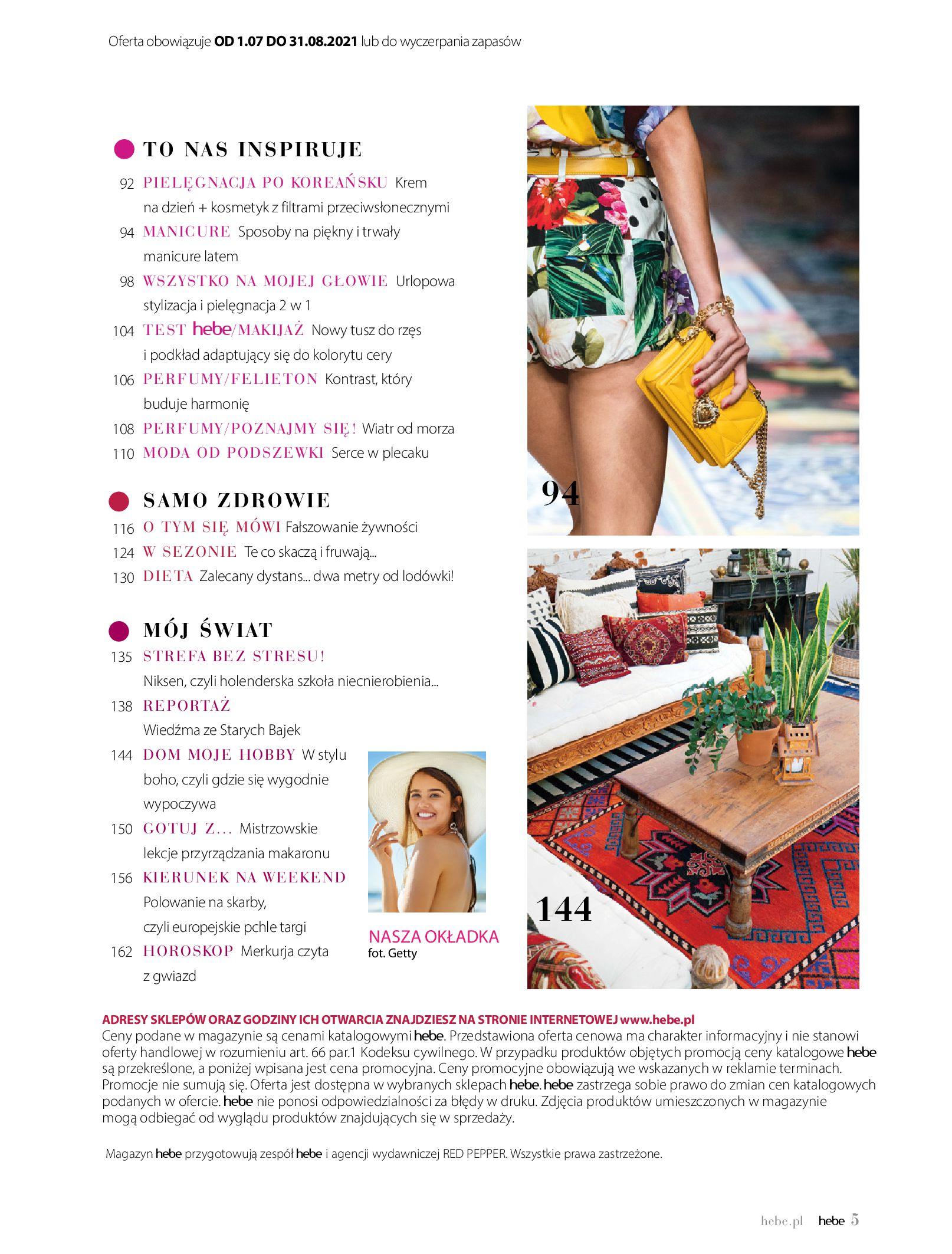 Gazetka hebe: Magazyn Hebe - Trendy na lato 2021-07-01 page-5