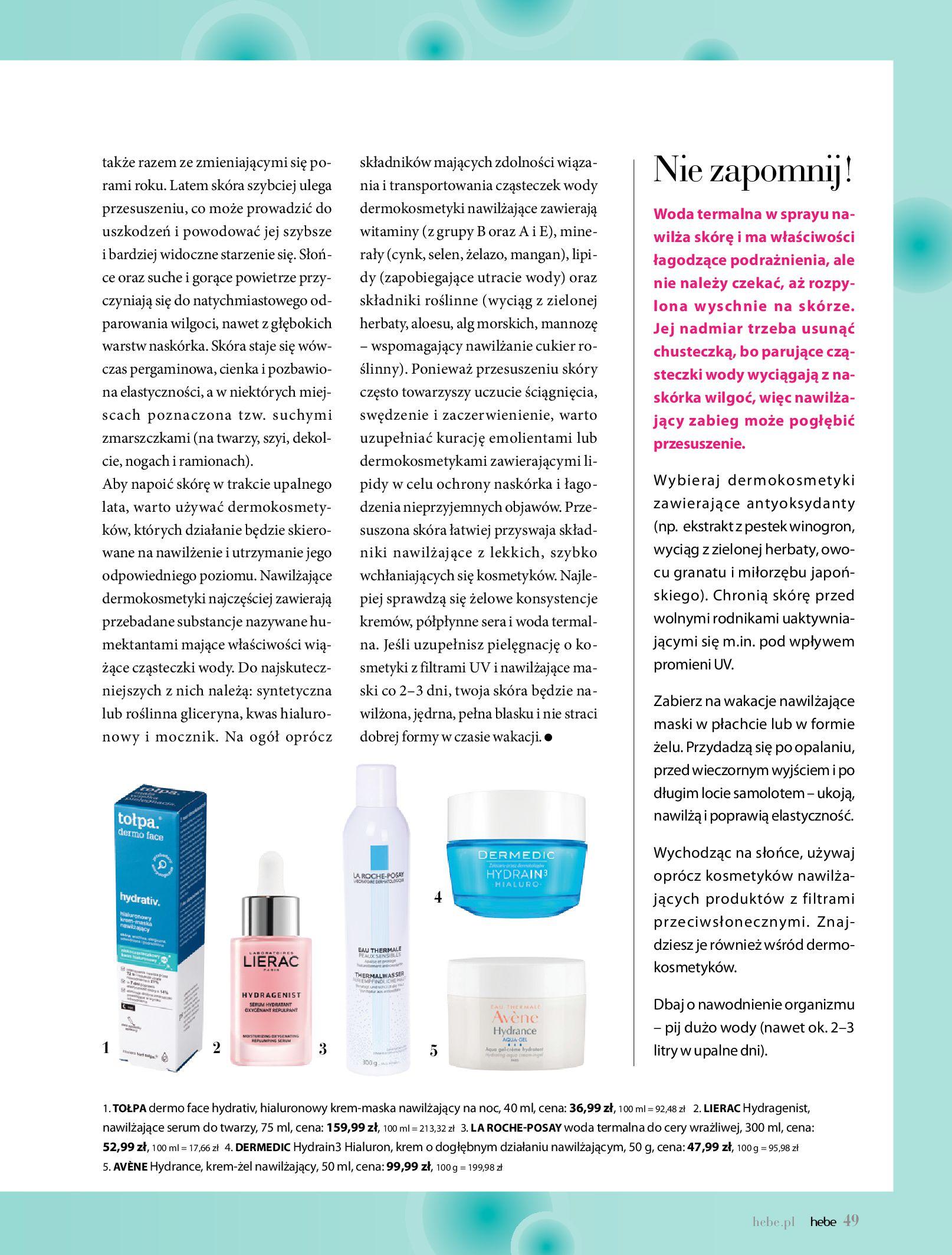 Gazetka hebe: Magazyn Hebe - Trendy na lato 2021-07-01 page-49