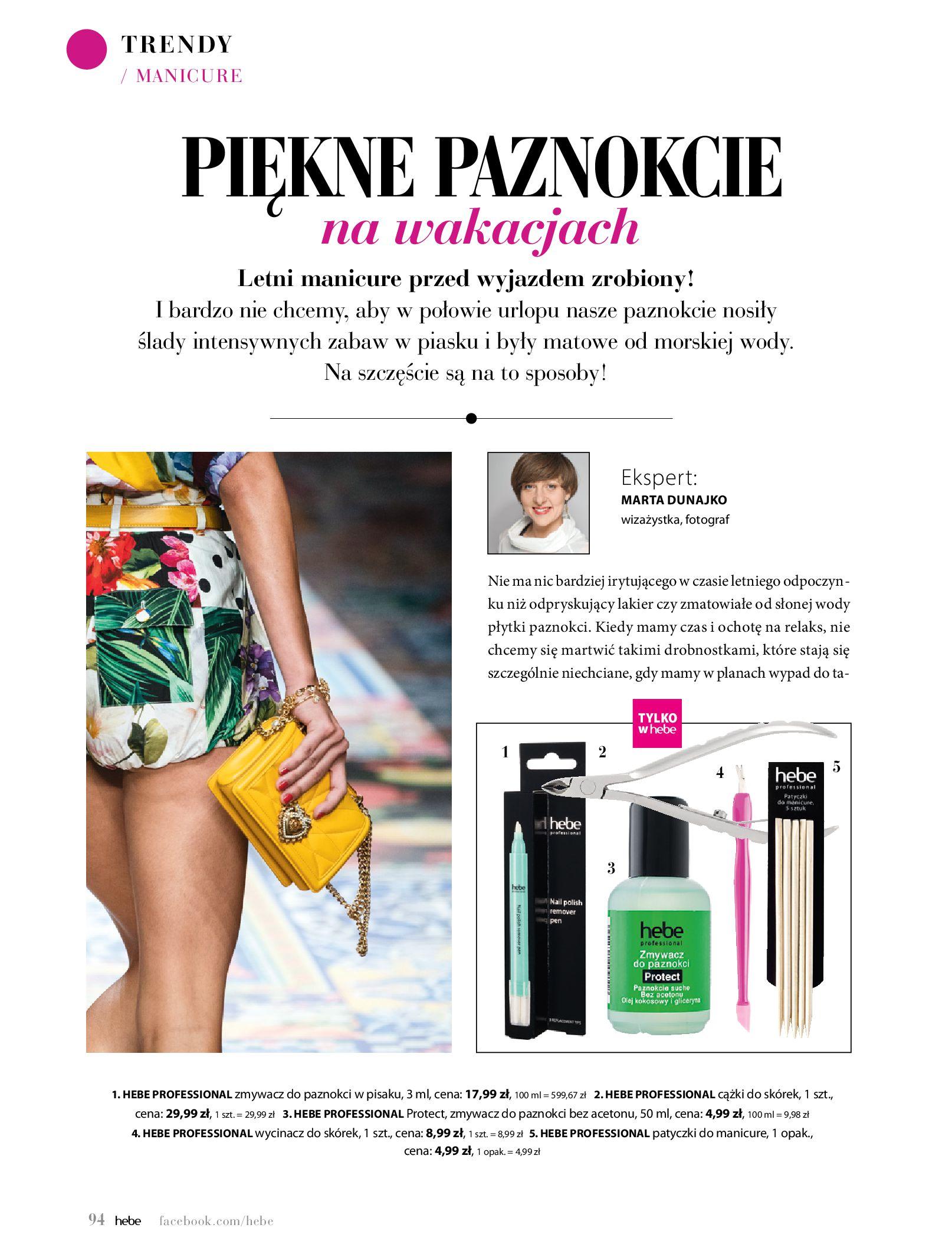 Gazetka hebe: Magazyn Hebe - Trendy na lato 2021-07-01 page-94
