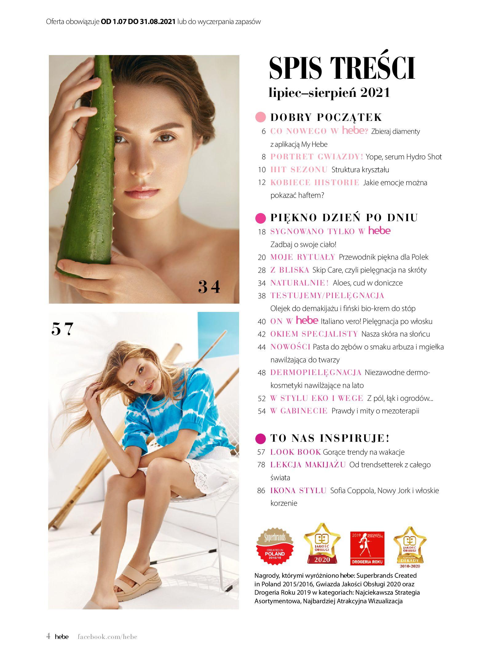Gazetka hebe: Magazyn Hebe - Trendy na lato 2021-07-01 page-4