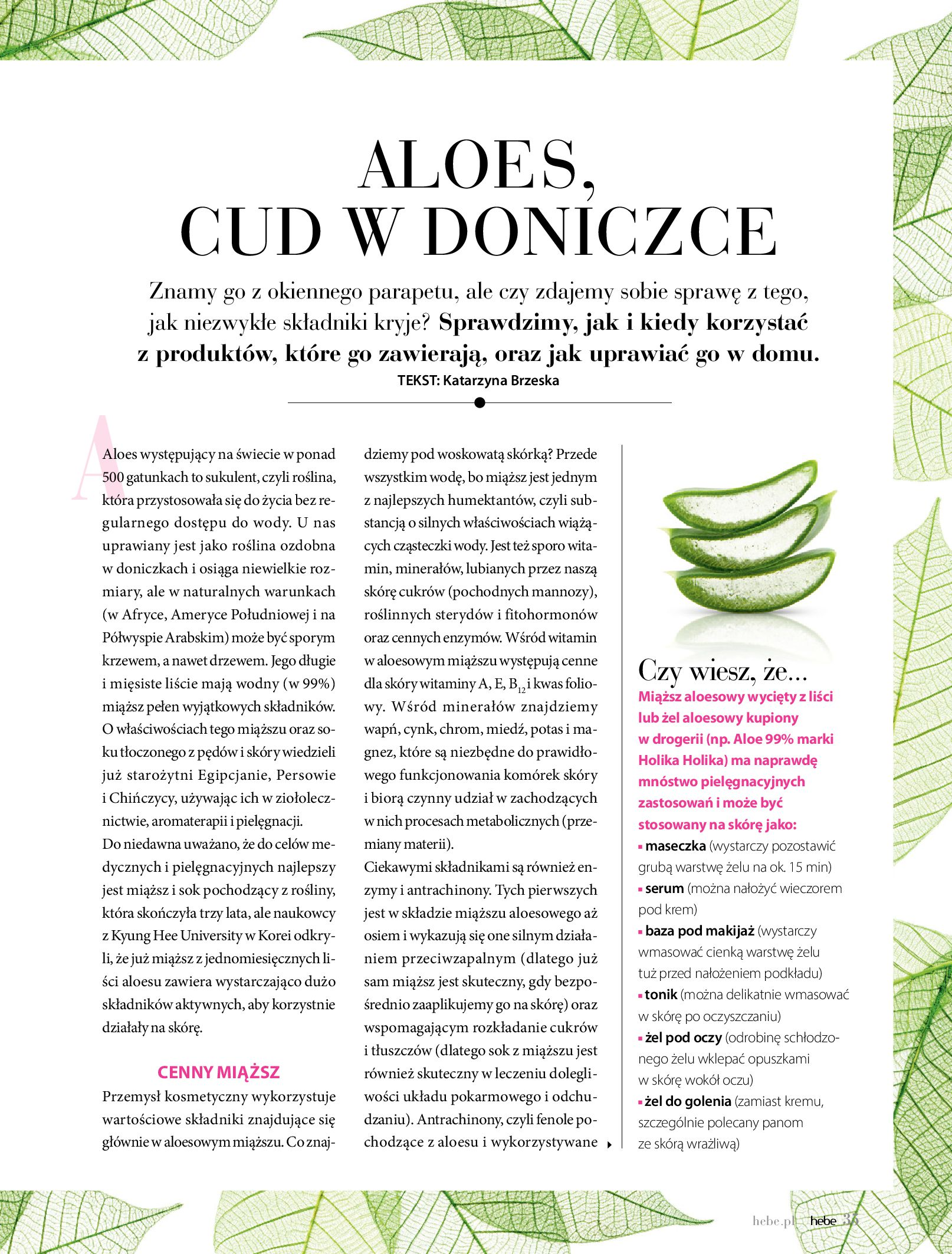 Gazetka hebe: Magazyn Hebe - Trendy na lato 2021-07-01 page-35
