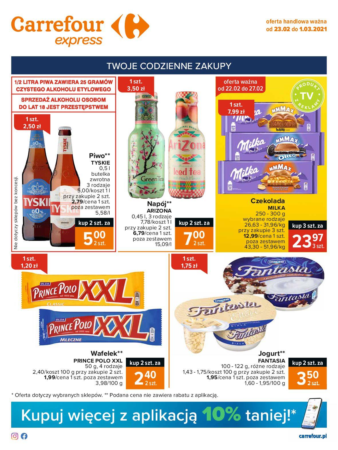 Gazetka Carrefour Express: Gazetka Express Pomarańczowa 2021-02-23 page-1