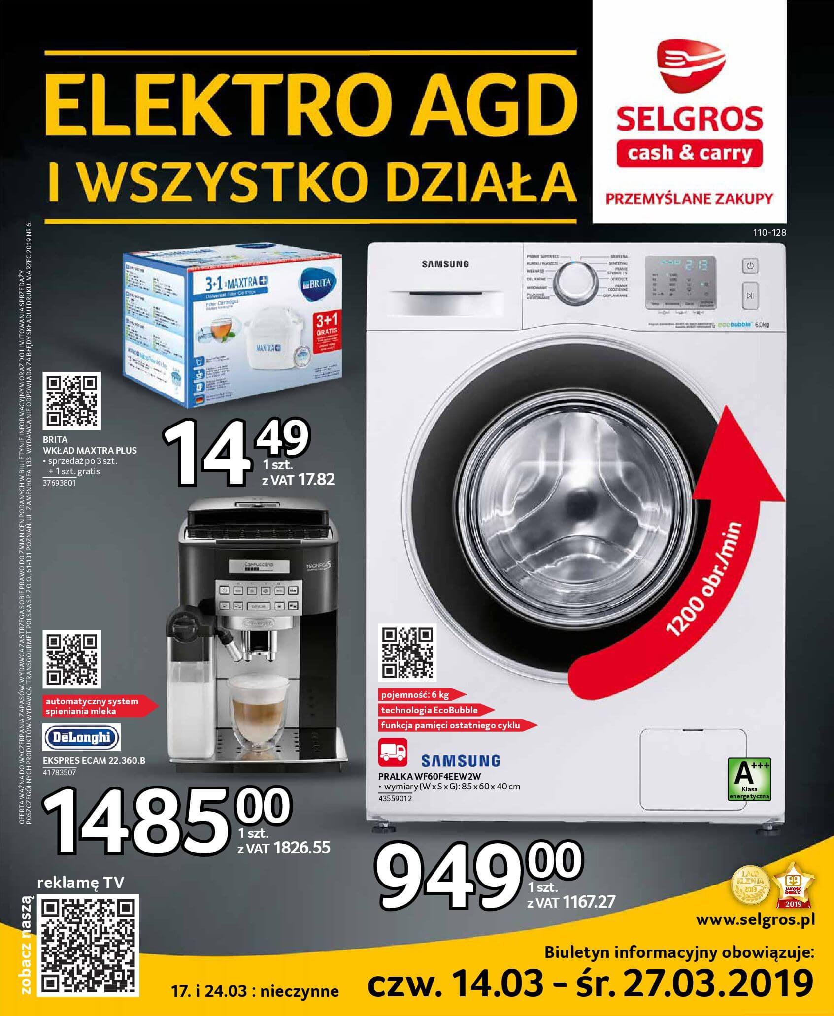 Gazetka Selgros - Elektro AGD i wszystko działa-13.03.2019-27.03.2019-page-