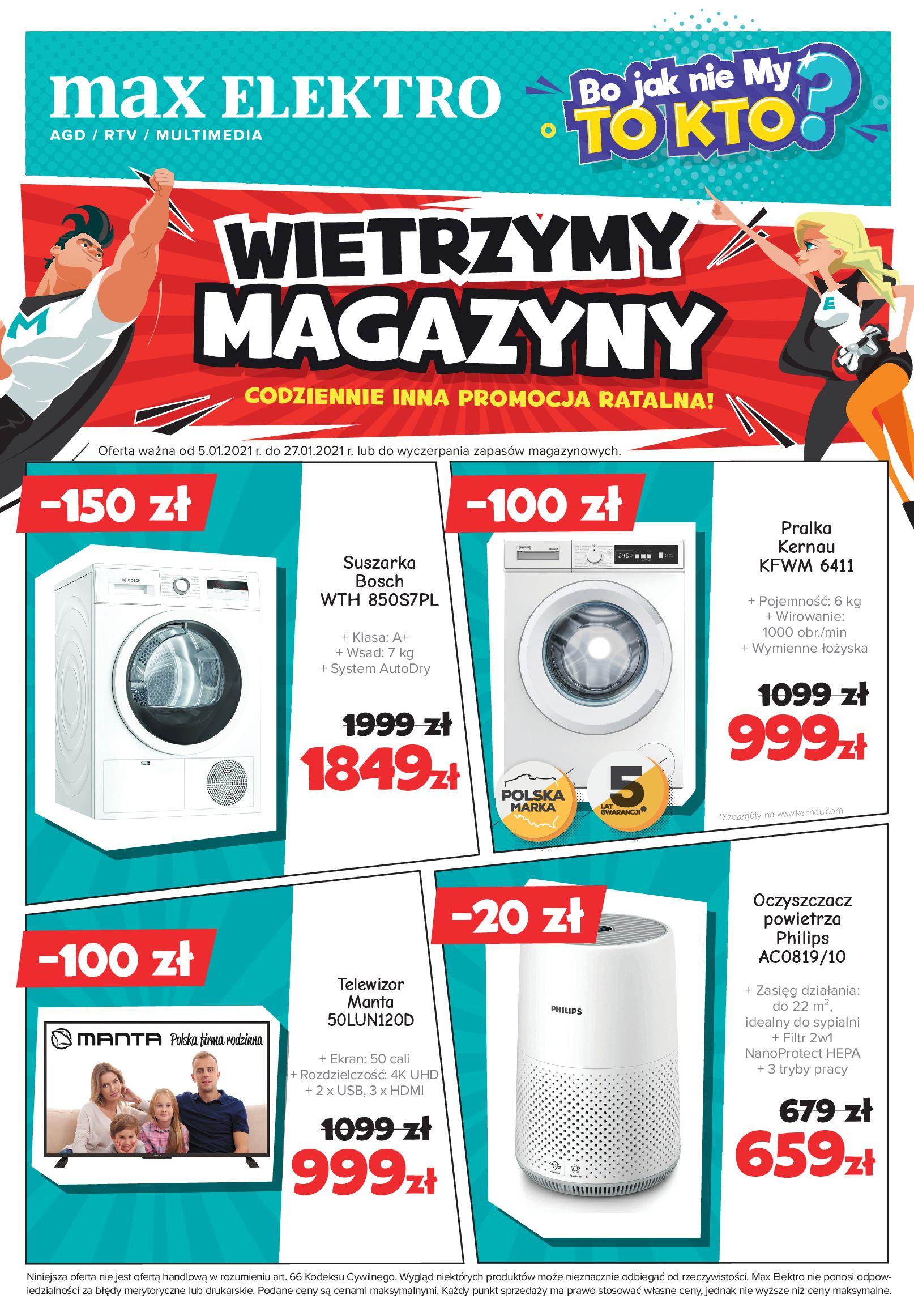 Gazetka Max Elektro.pl: Gazetka - Styczeń 2021-01-05 page-1