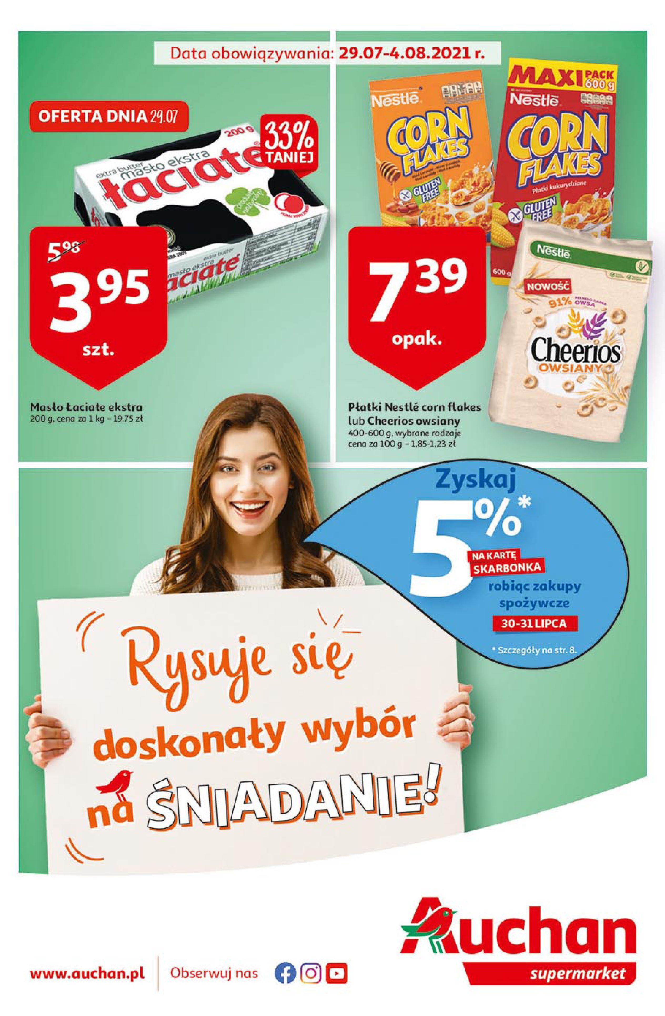 Auchan:  Gazetka Auchan - Śniadania 28.07.2021
