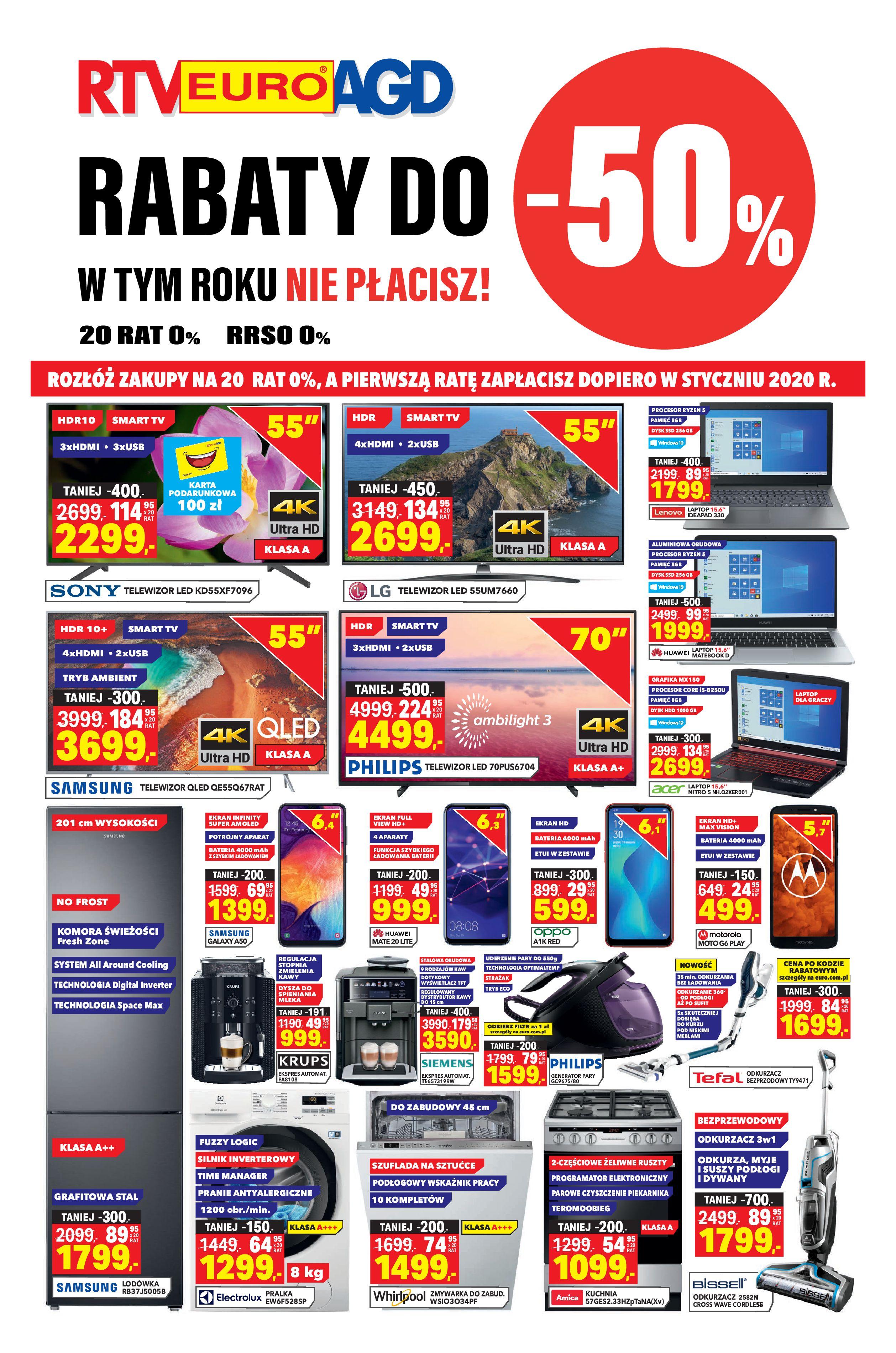 Gazetka RTV EURO AGD - Rabaty do -50%-04.09.2019-30.09.2019-page-1