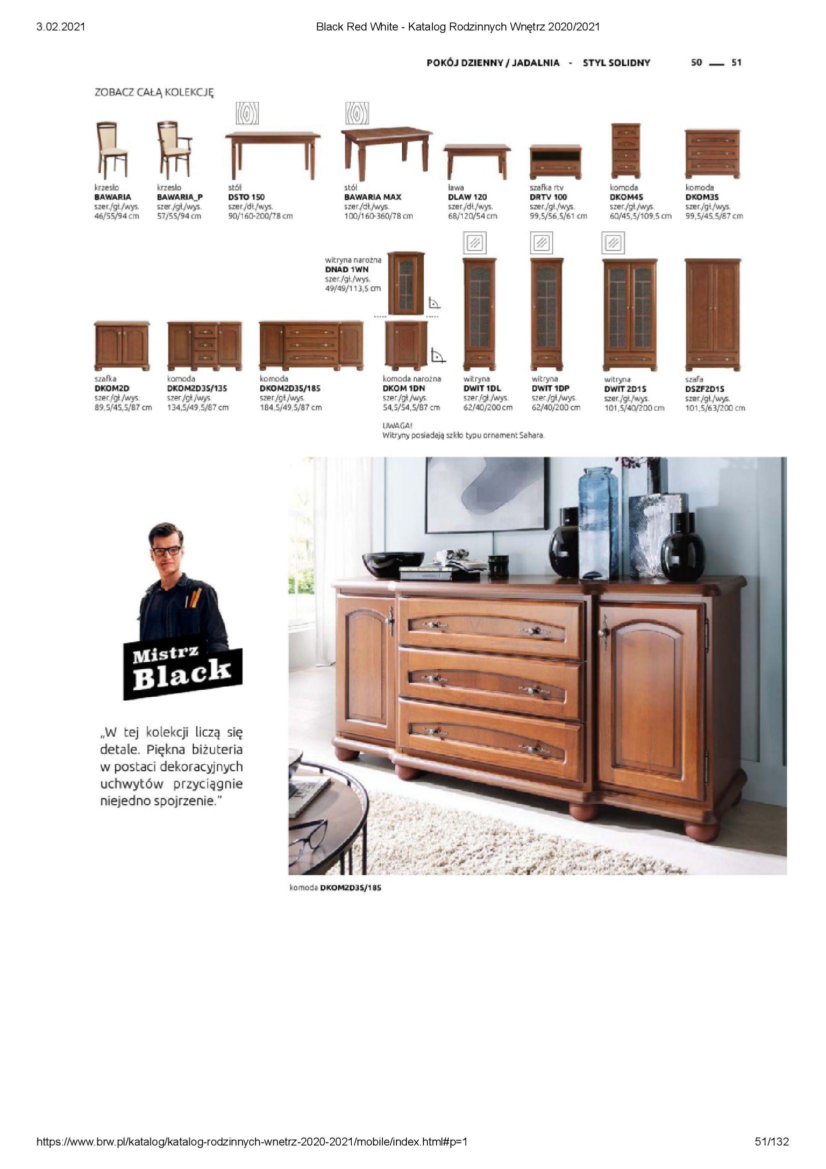 Gazetka Black Red White: Katalog rodzinnych wnętrz 2021-01-01 page-51