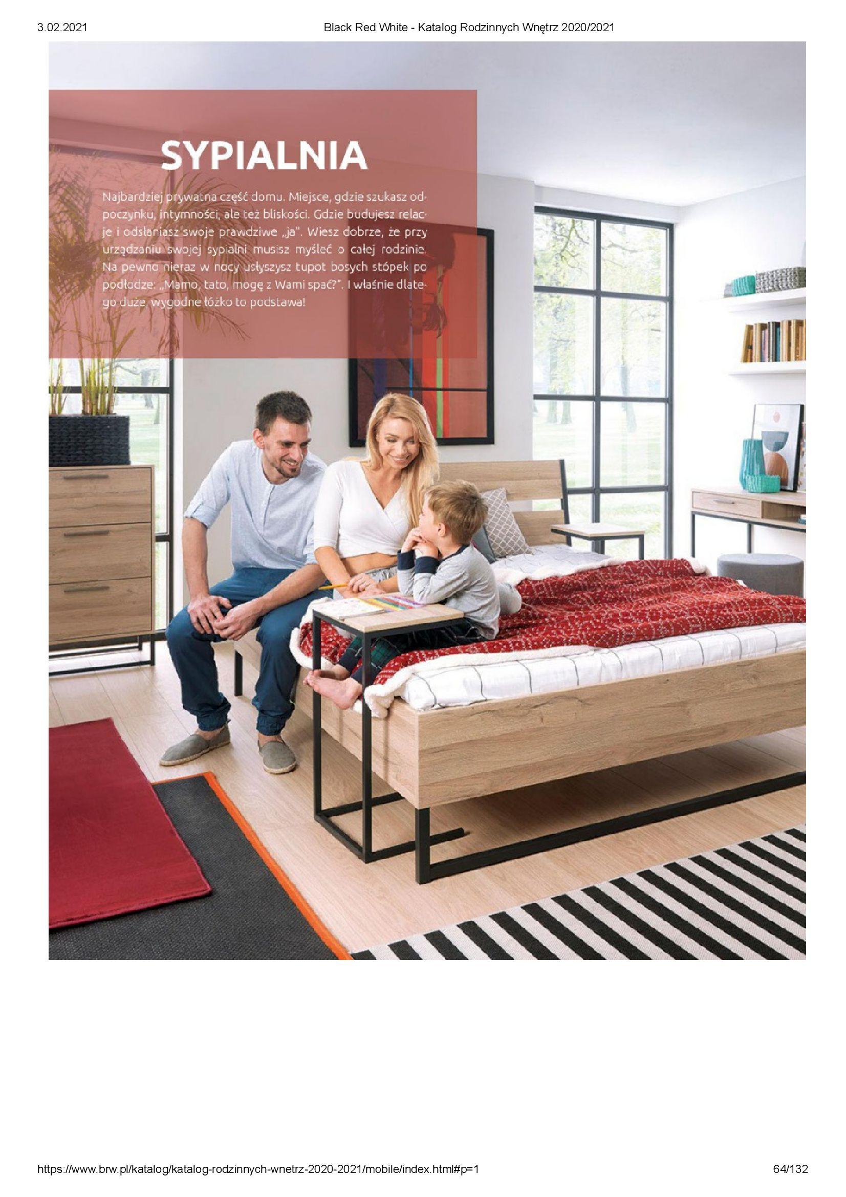 Gazetka Black Red White: Katalog rodzinnych wnętrz 2021-01-01 page-64