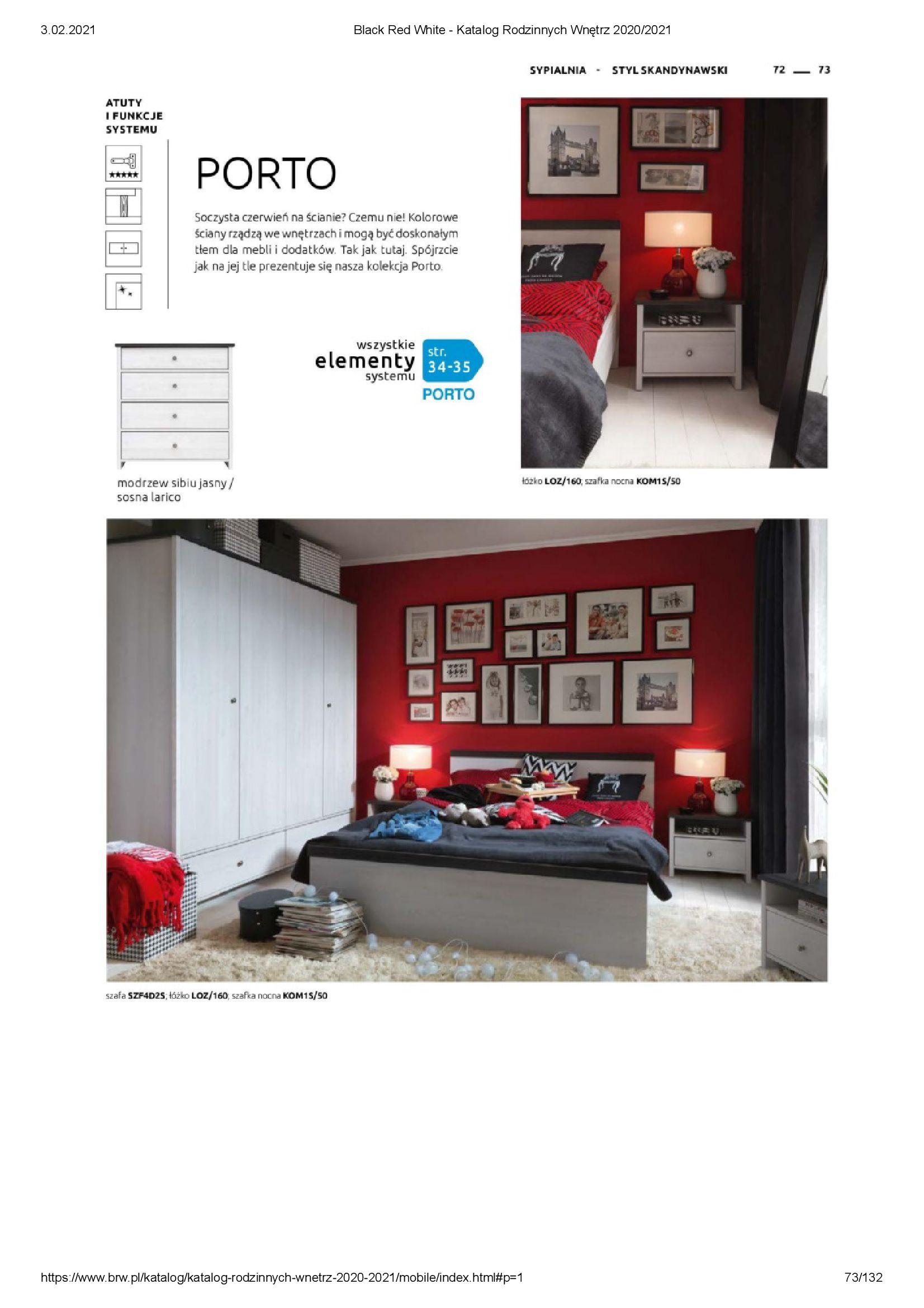 Gazetka Black Red White: Katalog rodzinnych wnętrz 2021-01-01 page-73