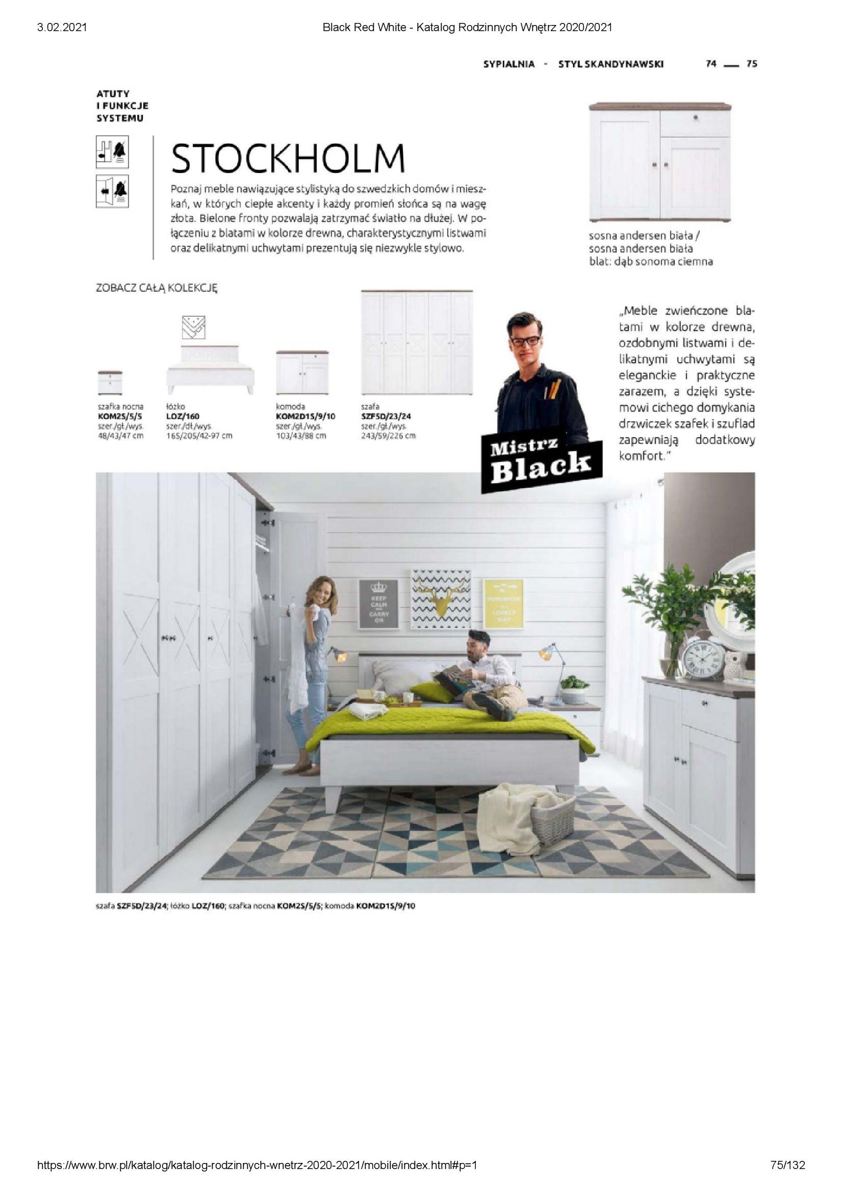 Gazetka Black Red White: Katalog rodzinnych wnętrz 2021-01-01 page-75