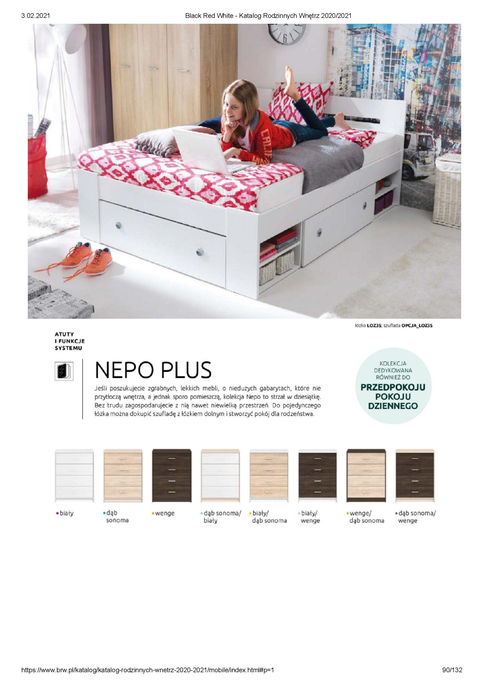 Gazetka Black Red White: Katalog rodzinnych wnętrz 2021-01-01 page-90