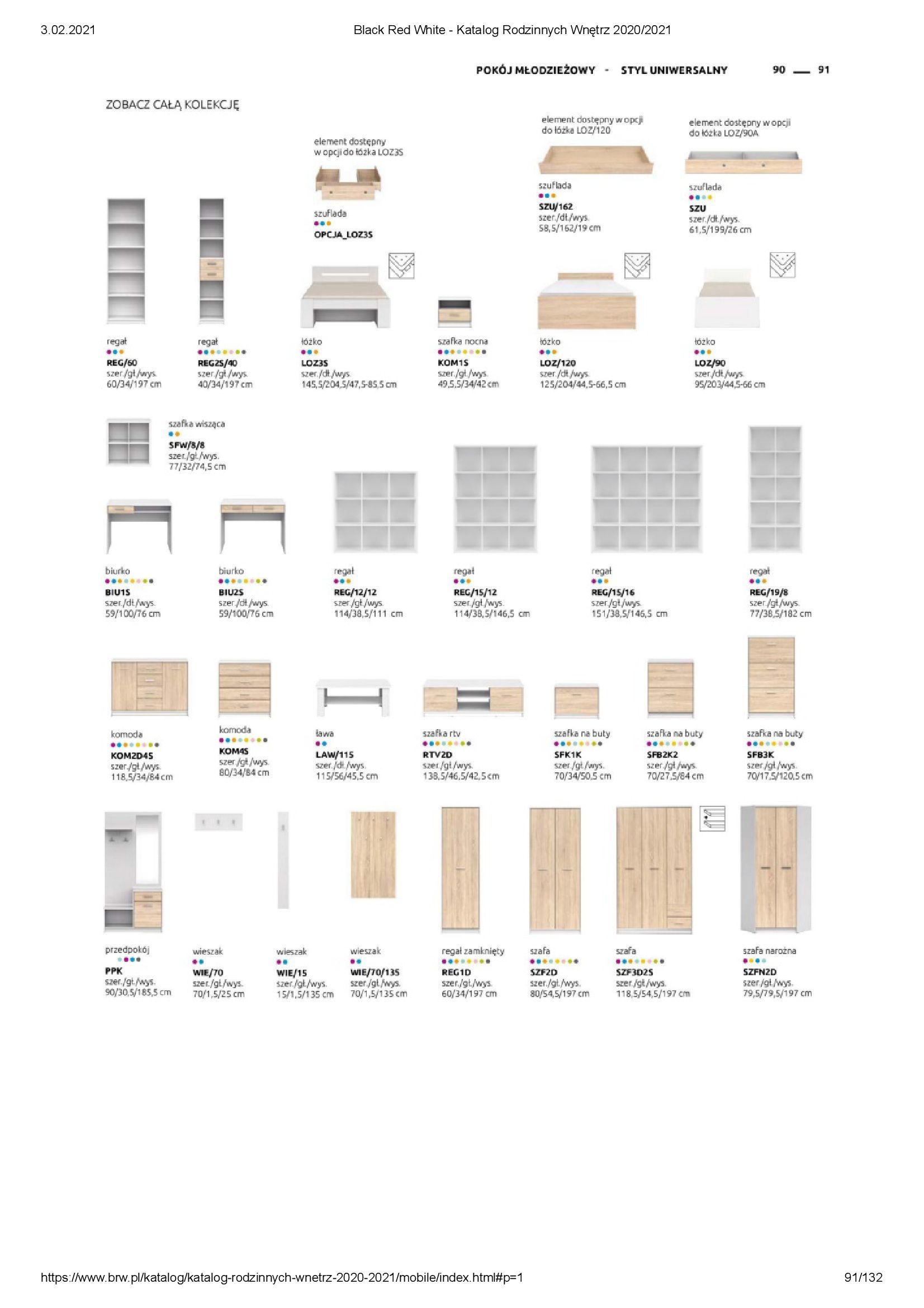 Gazetka Black Red White: Katalog rodzinnych wnętrz 2021-01-01 page-91