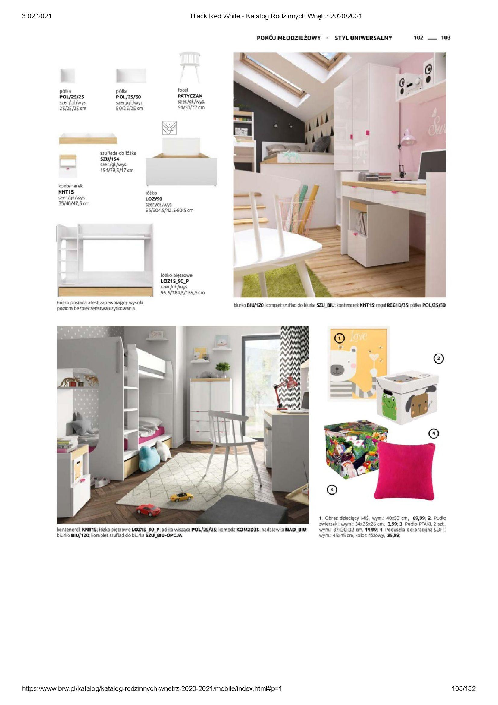 Gazetka Black Red White: Katalog rodzinnych wnętrz 2021-01-01 page-103
