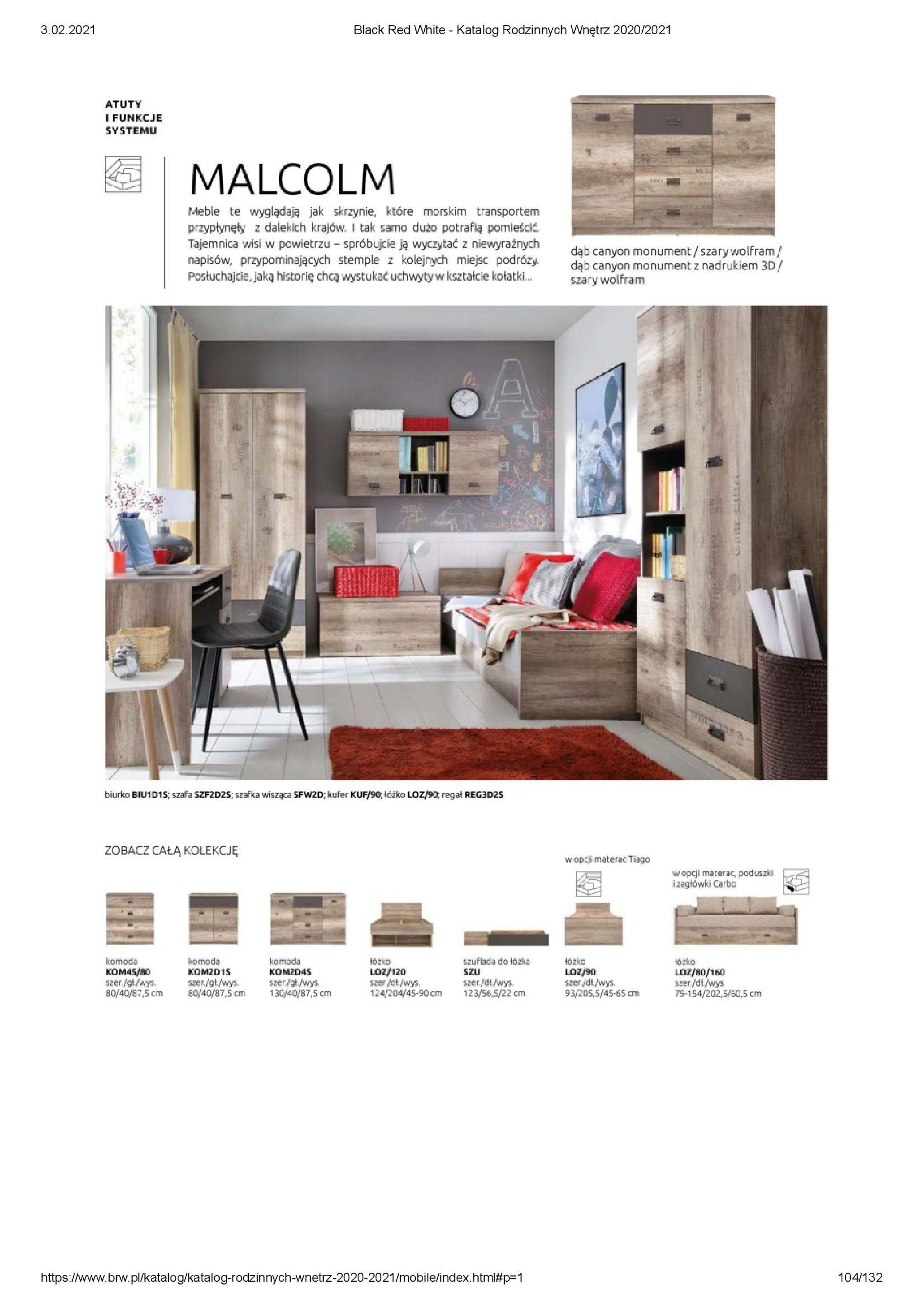 Gazetka Black Red White: Katalog rodzinnych wnętrz 2021-01-01 page-104