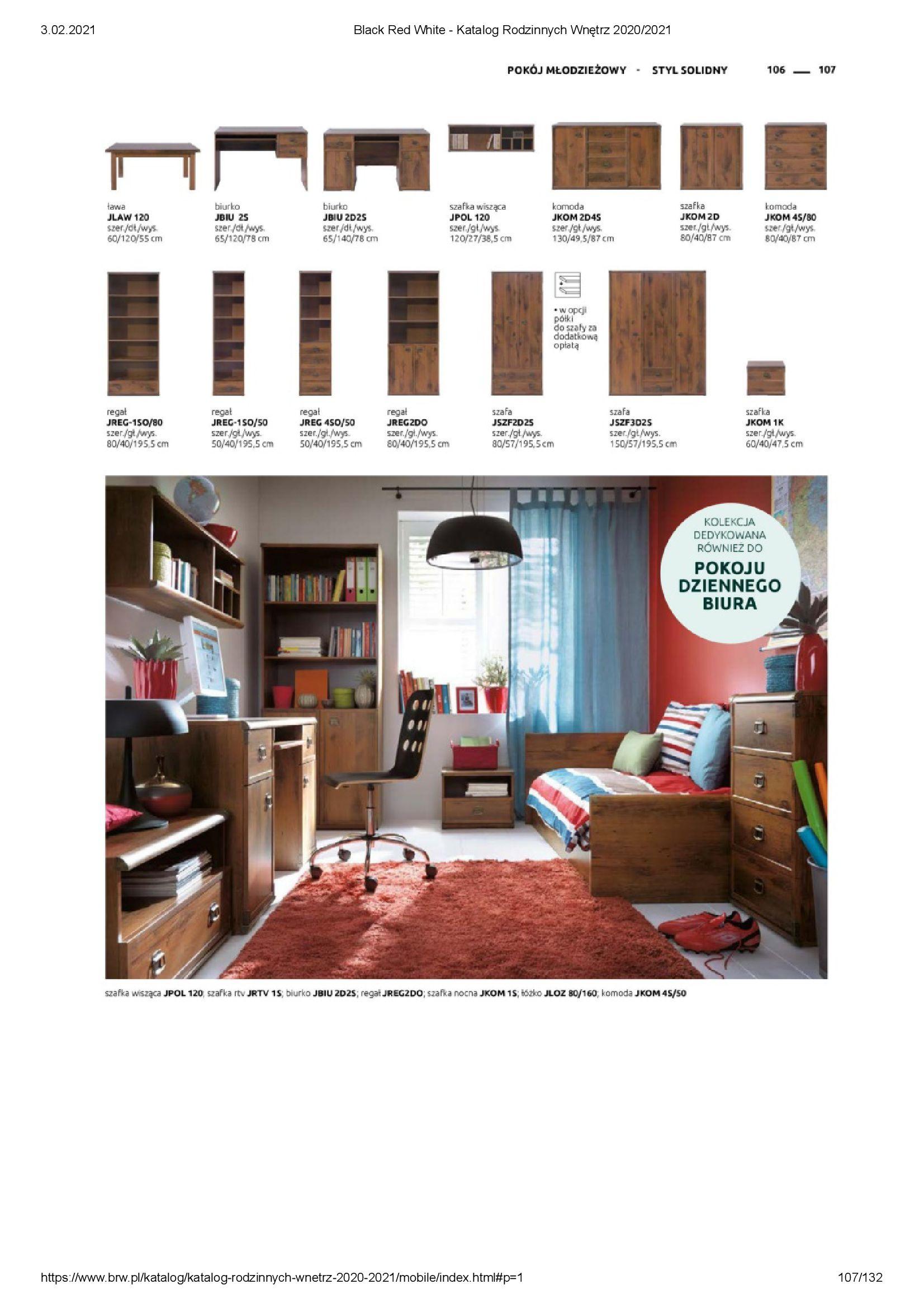 Gazetka Black Red White: Katalog rodzinnych wnętrz 2021-01-01 page-107