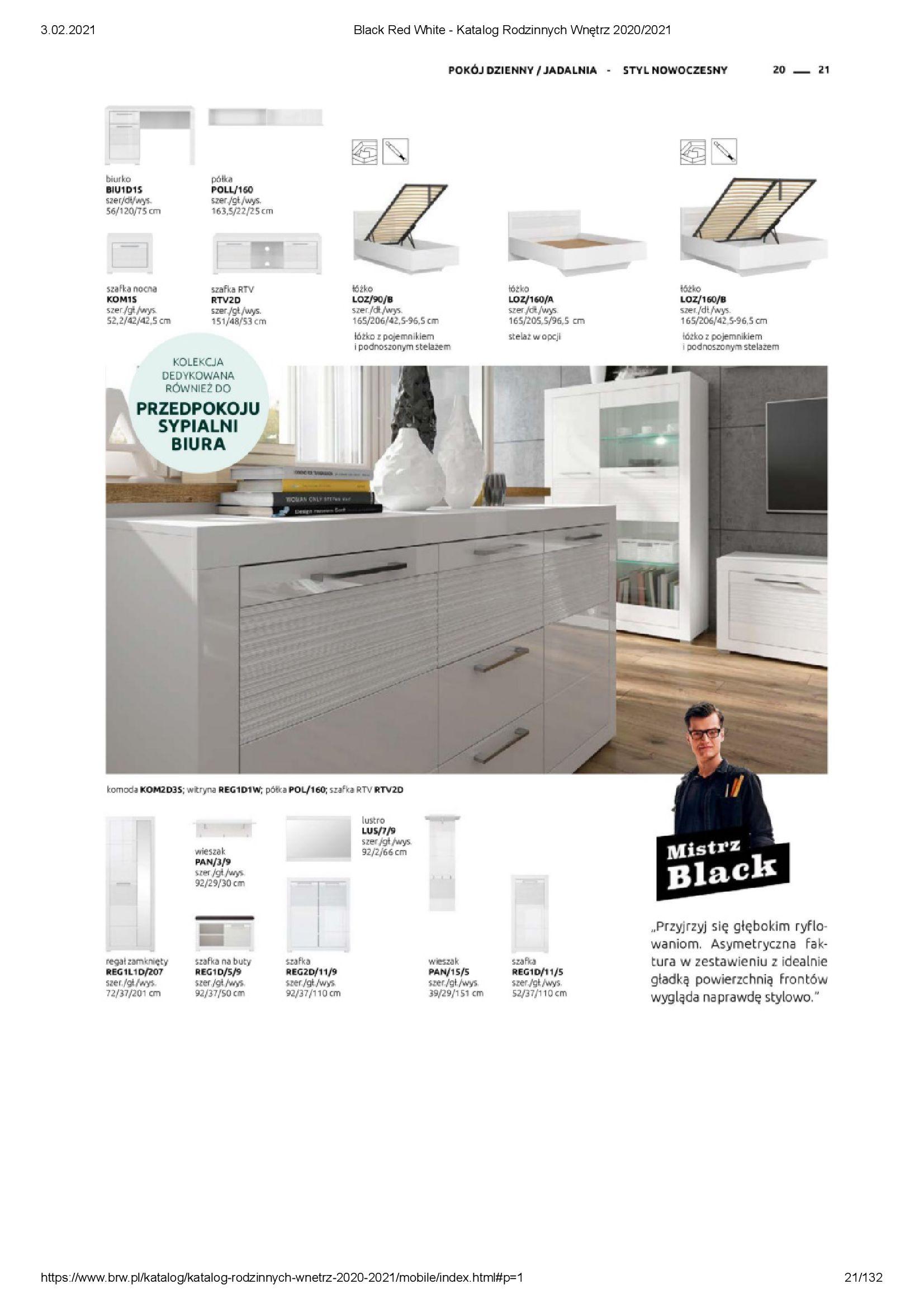 Gazetka Black Red White: Katalog rodzinnych wnętrz 2021-01-01 page-21