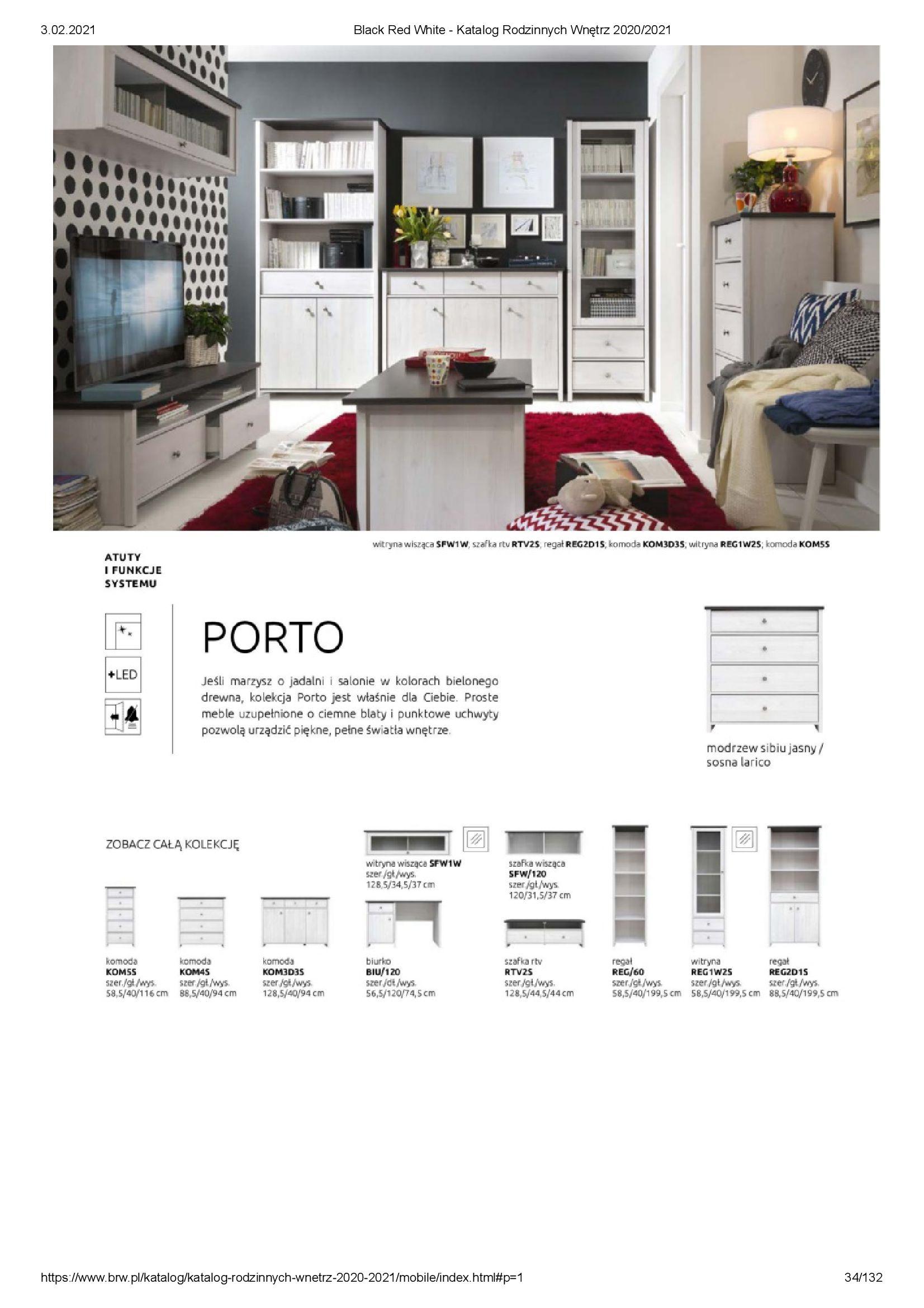 Gazetka Black Red White: Katalog rodzinnych wnętrz 2021-01-01 page-34