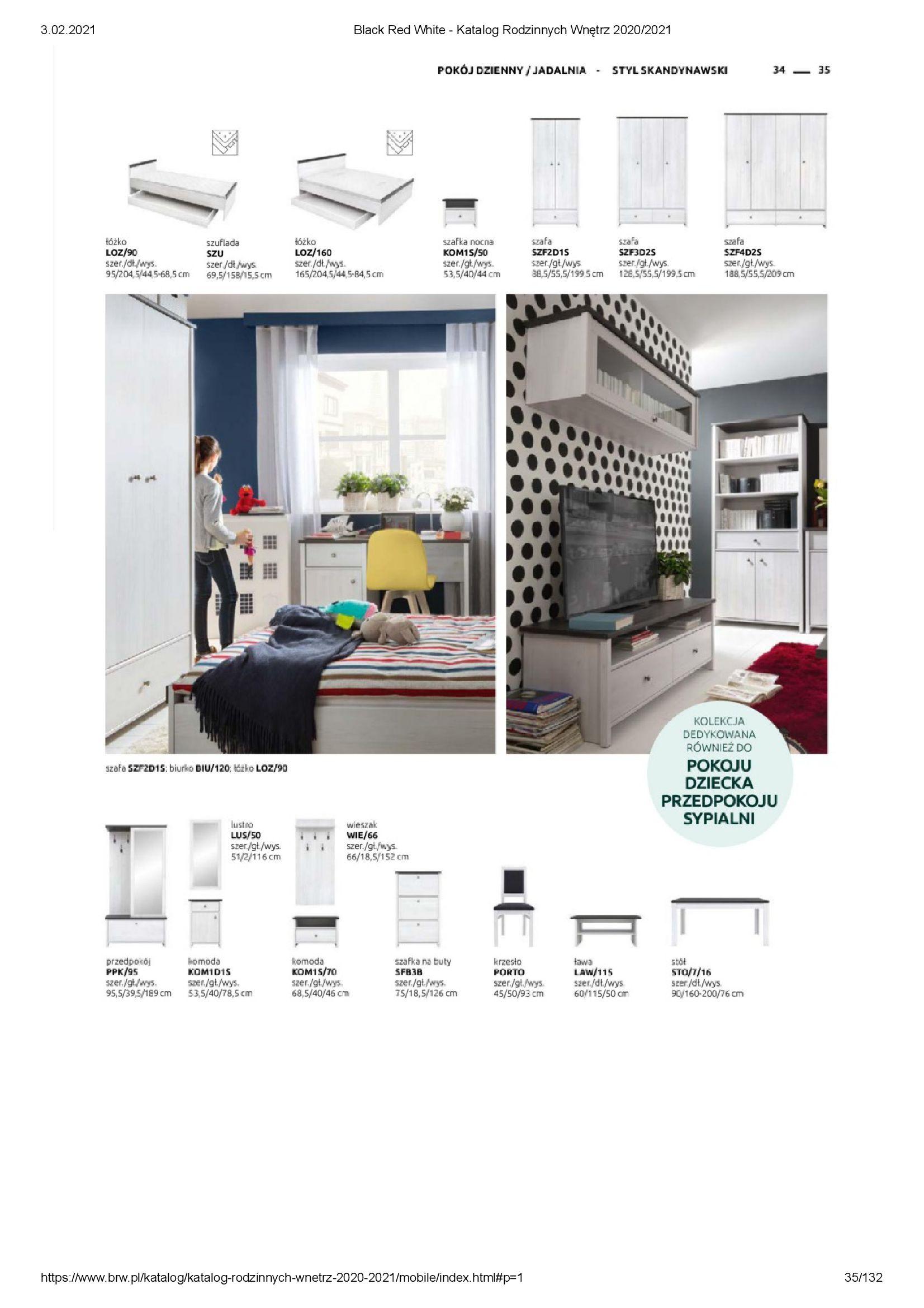 Gazetka Black Red White: Katalog rodzinnych wnętrz 2021-01-01 page-35