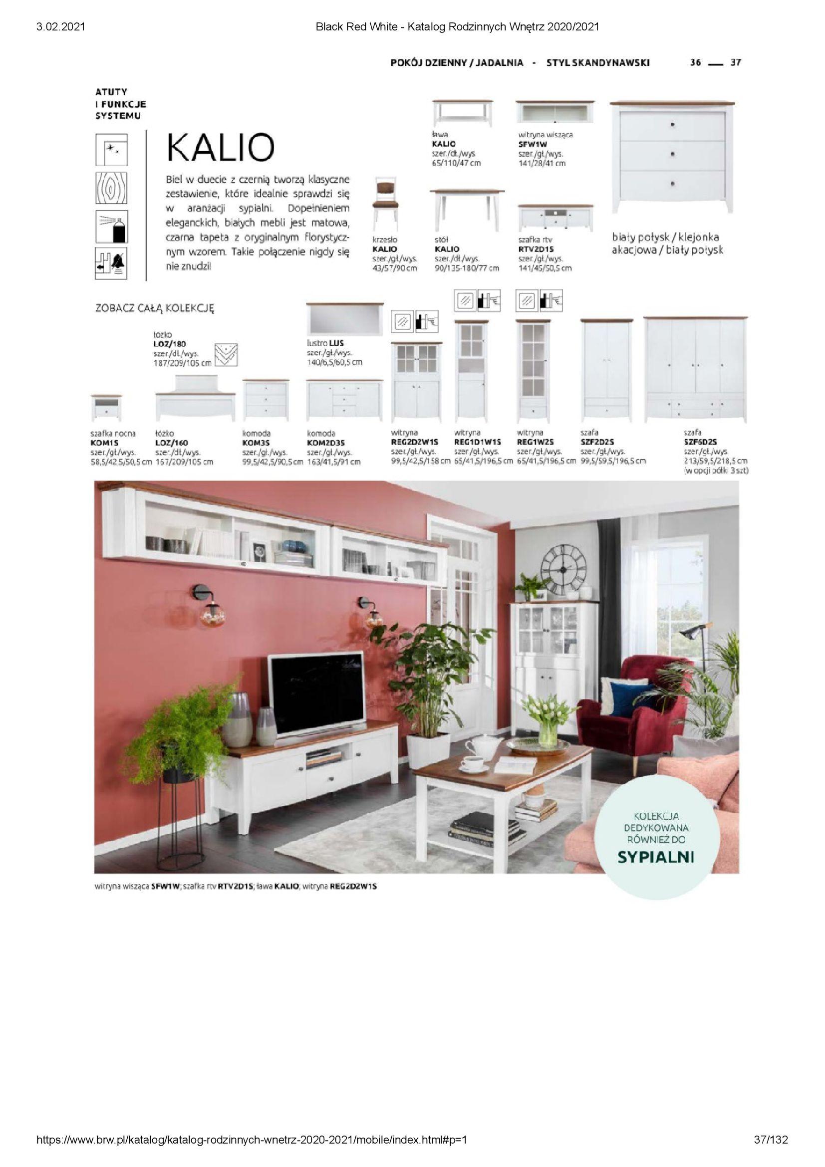 Gazetka Black Red White: Katalog rodzinnych wnętrz 2021-01-01 page-37