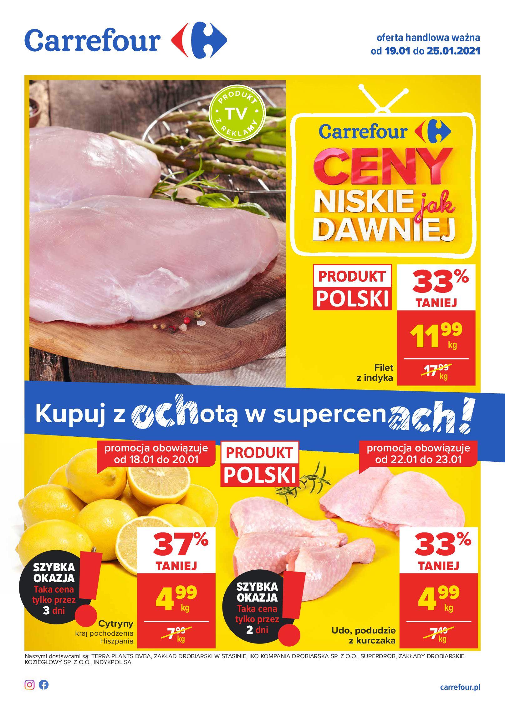 Carrefour:  Oferta handlowa - Carrefour 18.01.2021